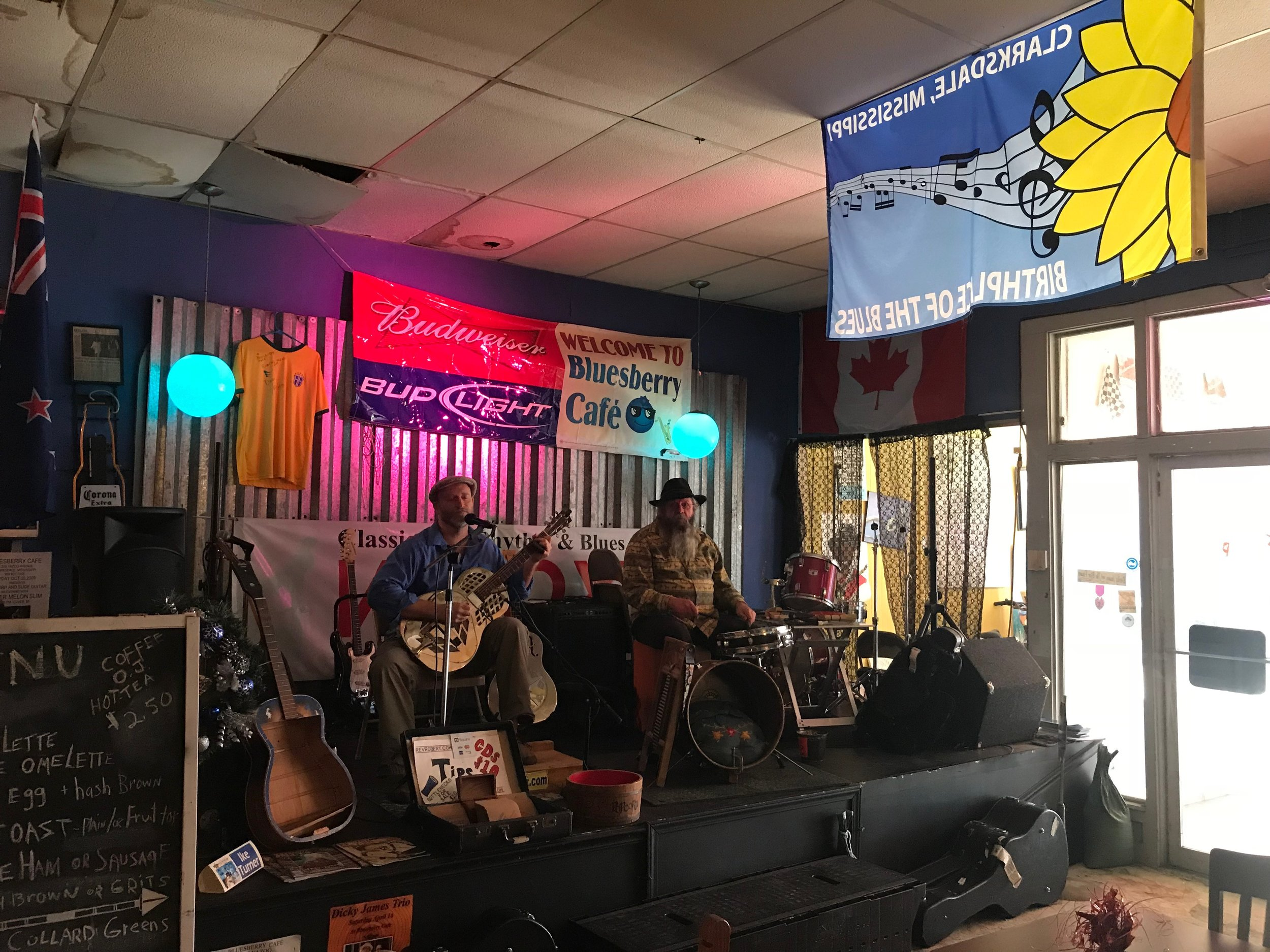 Blues and breakfast at Clarksdale's Bluesberry Cafe.