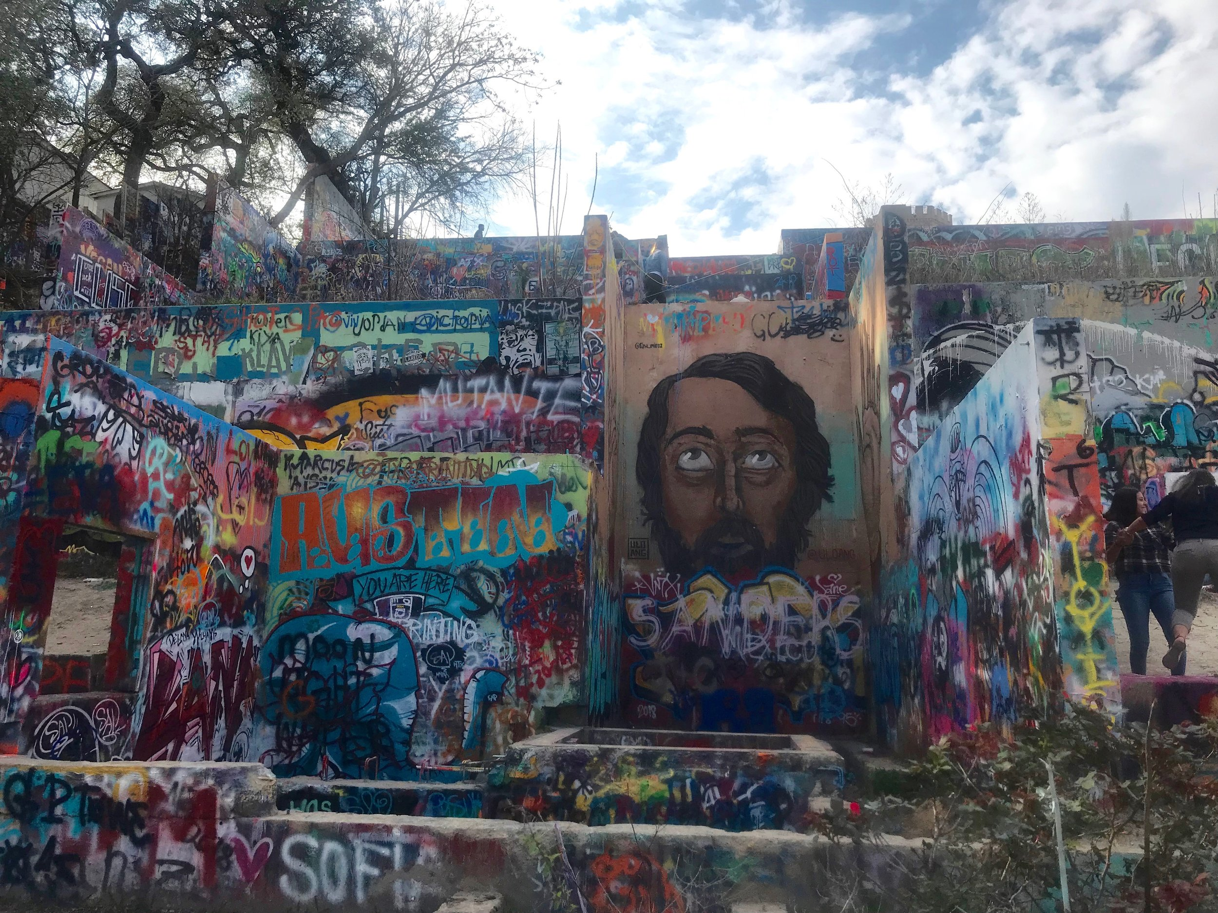 Austin's Graffiti Park - officially known as the Hope Outdoor Gallery - invites people to express themselves with spray paint.