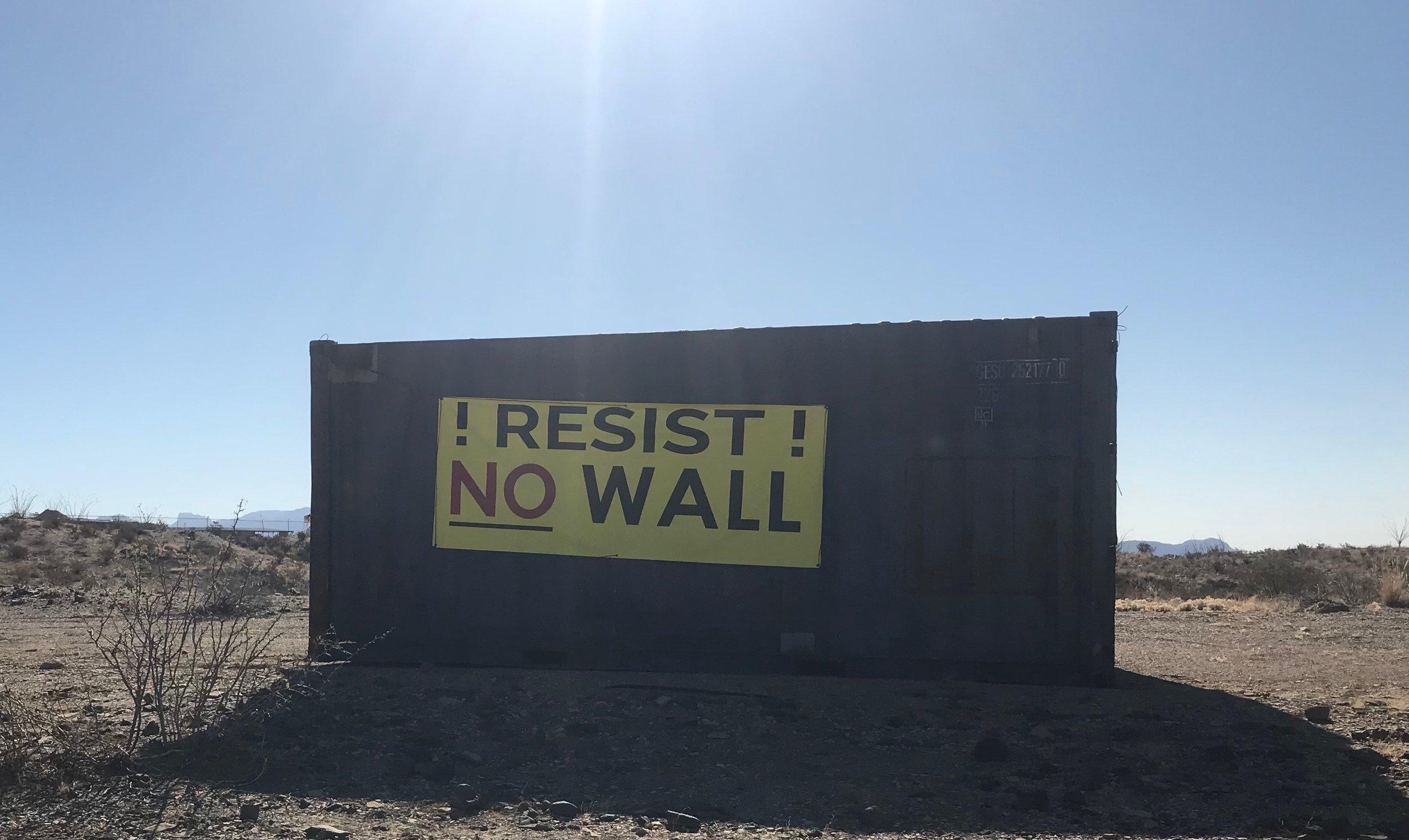 A sign in Terlingua, Texas, reflects sentiment on both sides of the border.