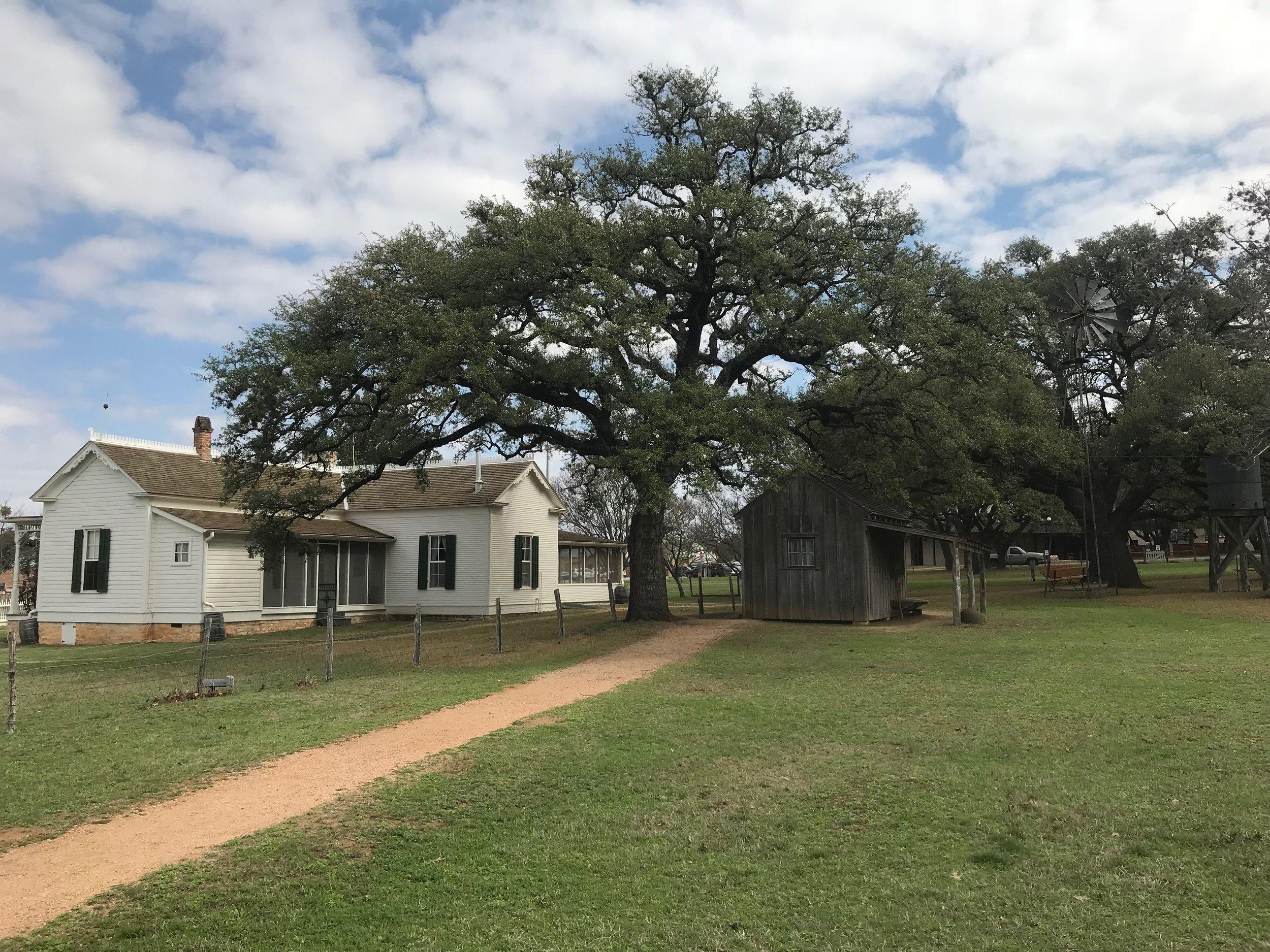 Lyndon Johnson's boyhood home in Johnson City, Texas. Photo by Rick Holmes