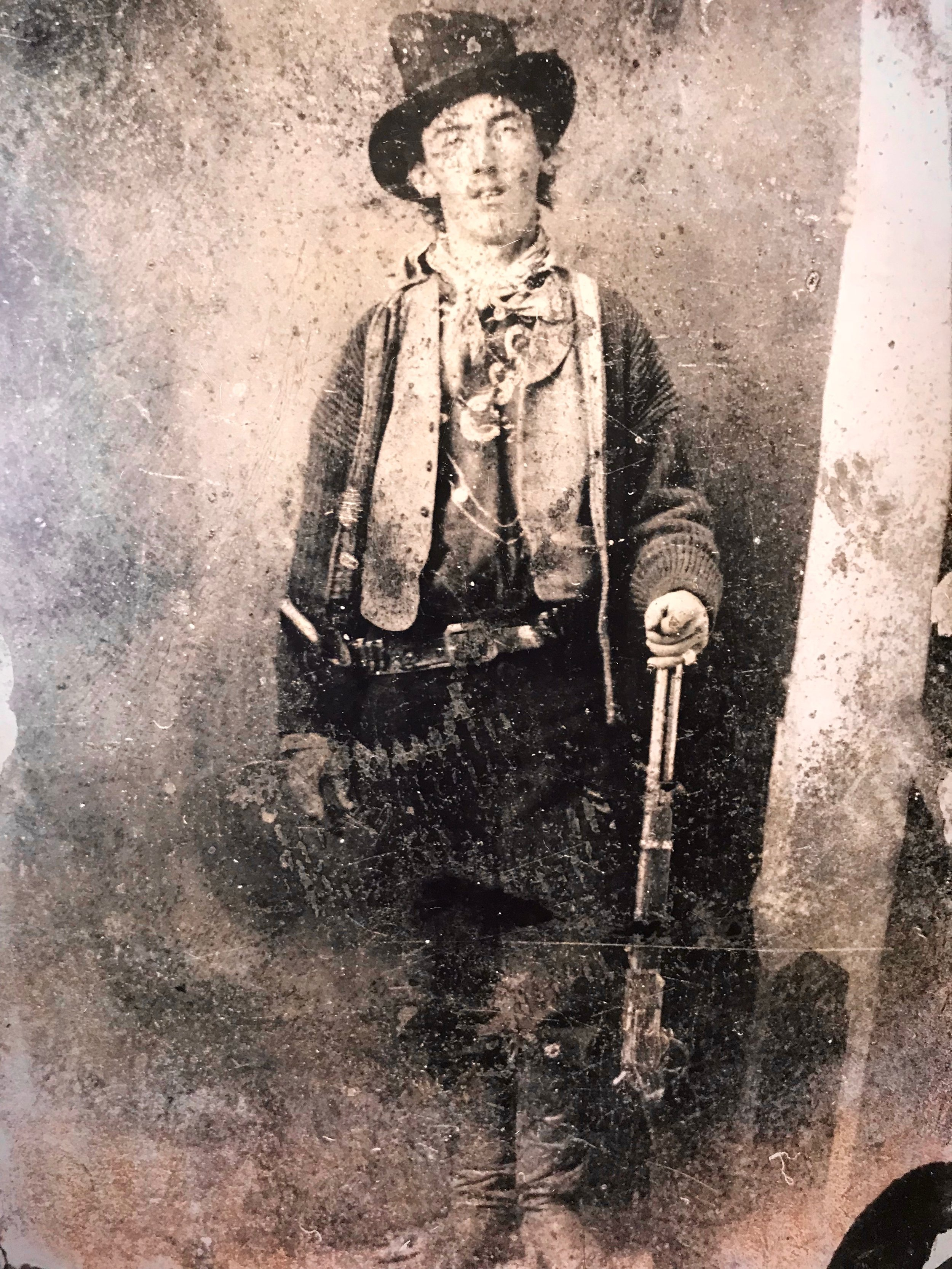Billy the Kid in the 1870s, in the only known photo of him.