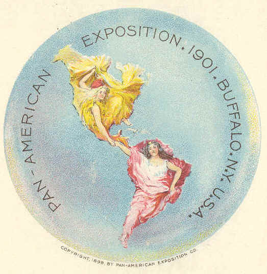 The emblem of the Pan-American Exposition, held in Buffalo in 1901.