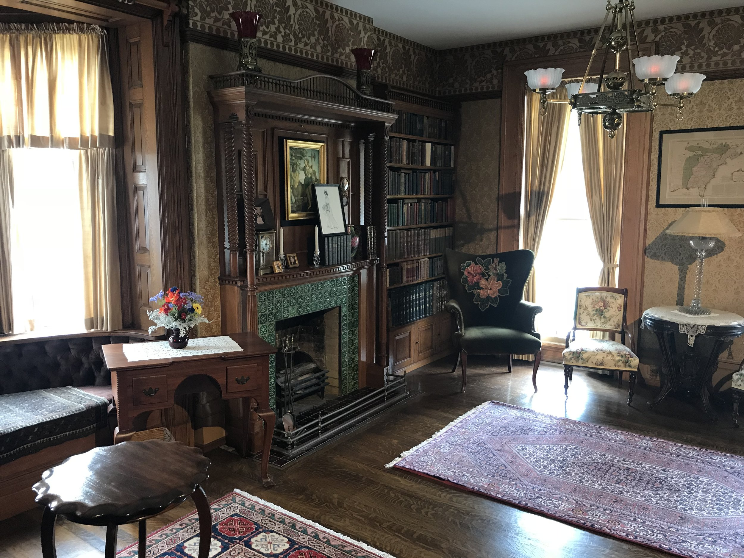 The parlor in which Roosevelt was sworn in.