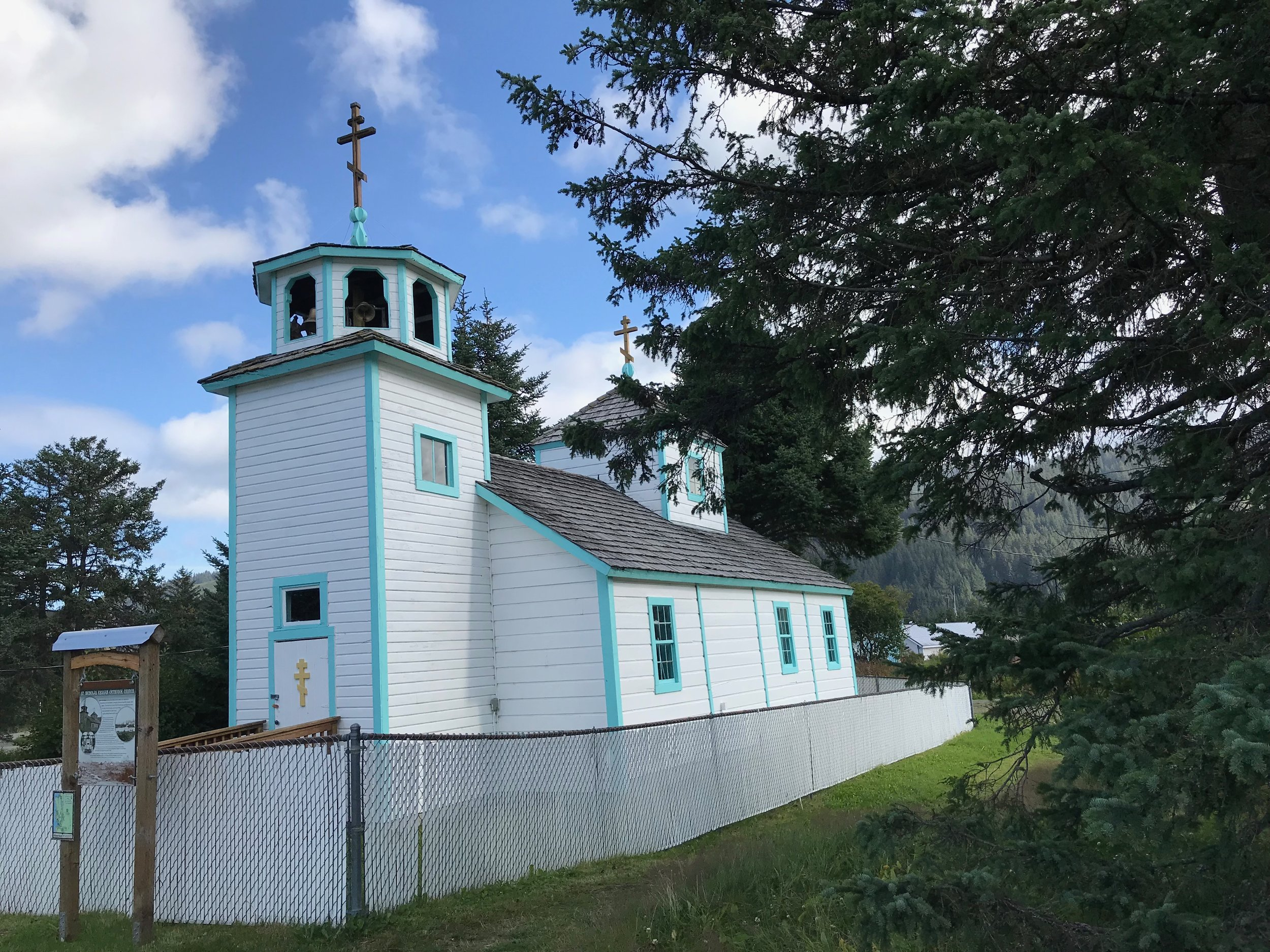 Seldovia was founded by Russian fur traders, who built St. Nicholas Church, which has no active congregation but is still maintained.
