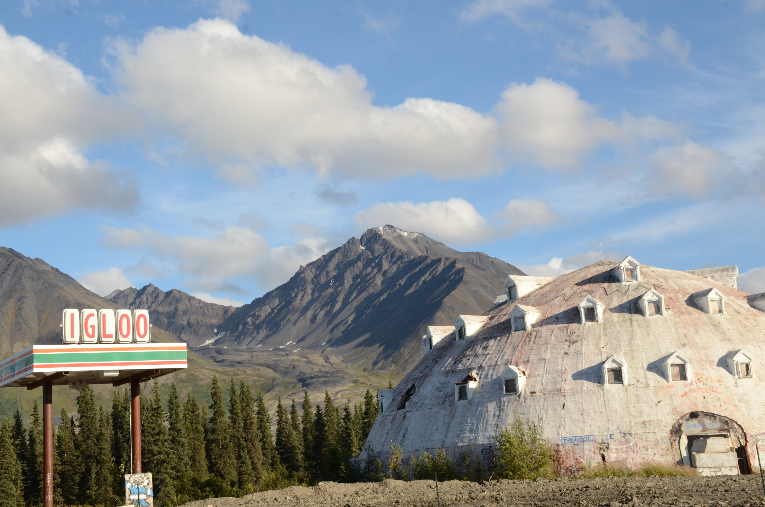 A former attraction on the road to Denali.