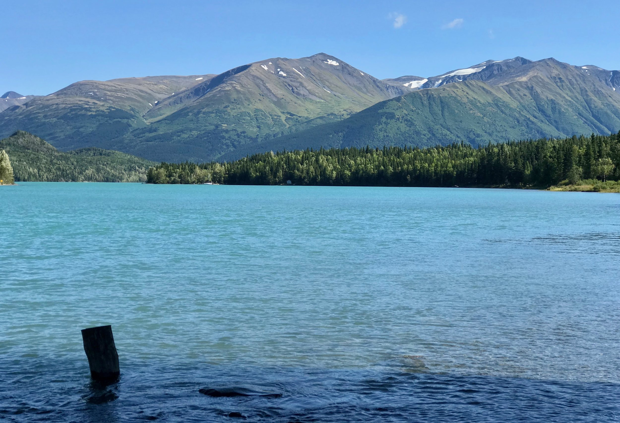 """Glacial lakes often look turquoise because of silt particles known as """"glacier flour."""""""