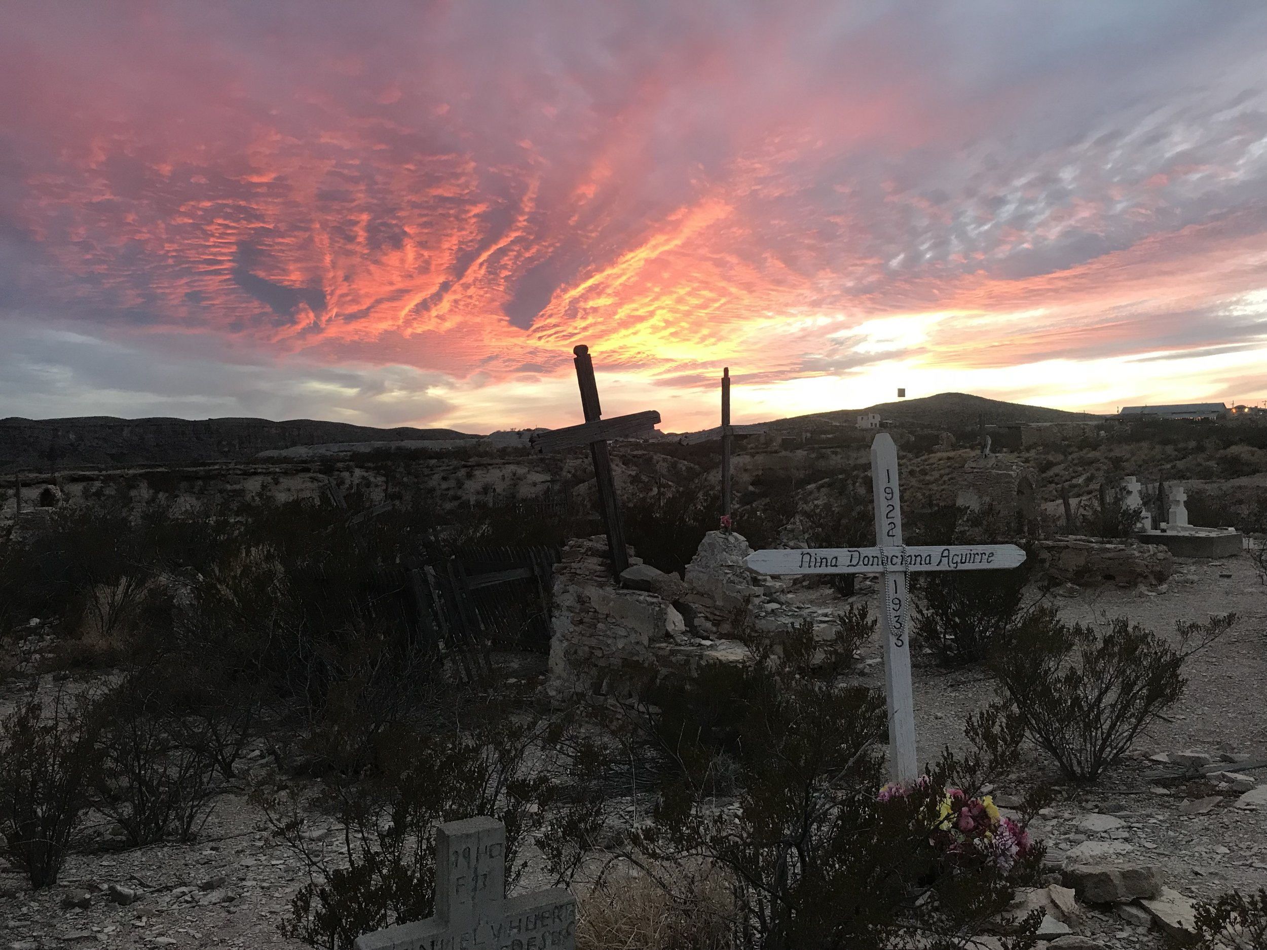 The cemetery in Terlingua, Texas, which calls itself a ghost town, is still active.