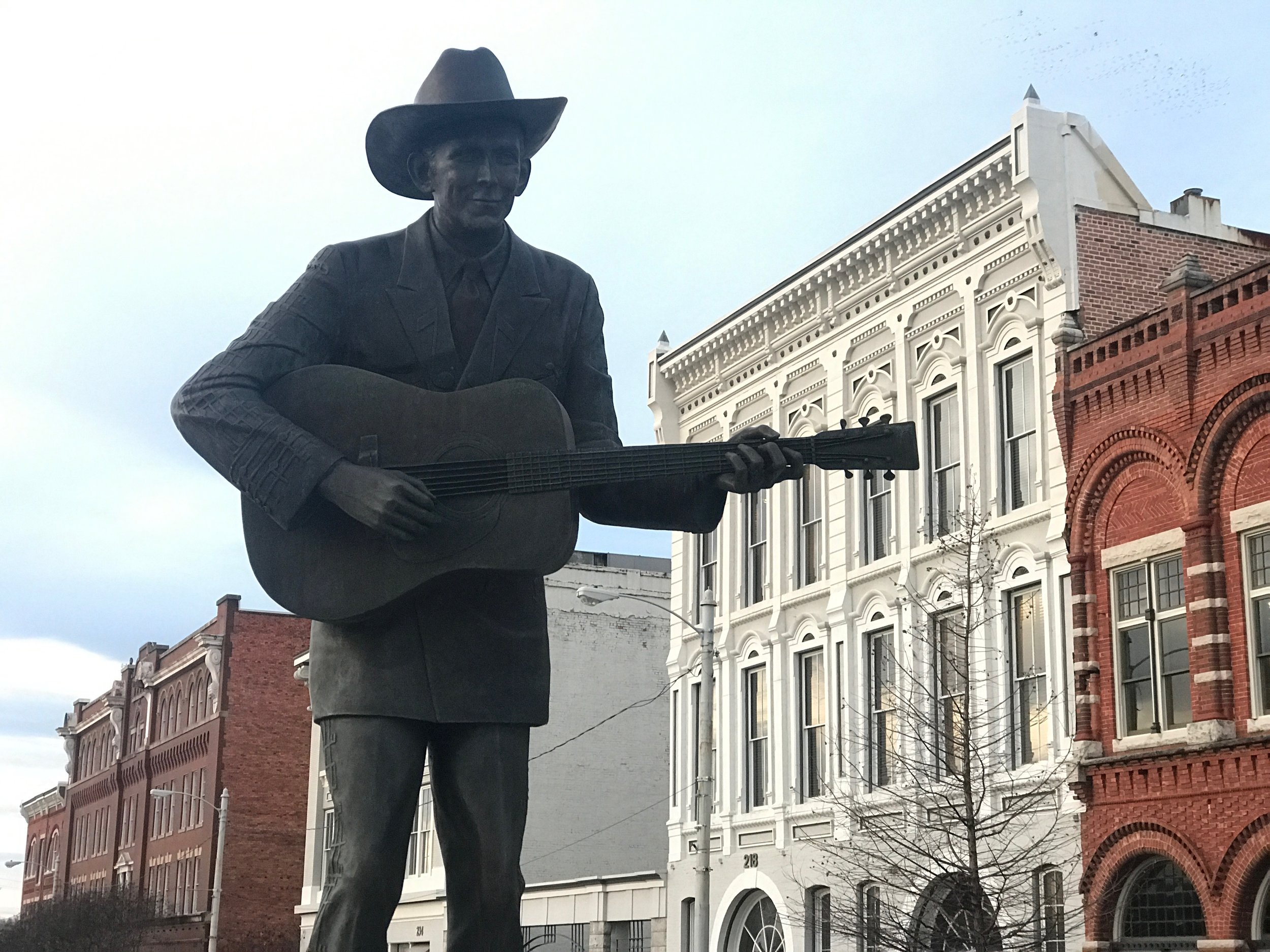 Hank Williams Sr. presides over Commerce Street in Montgomery.