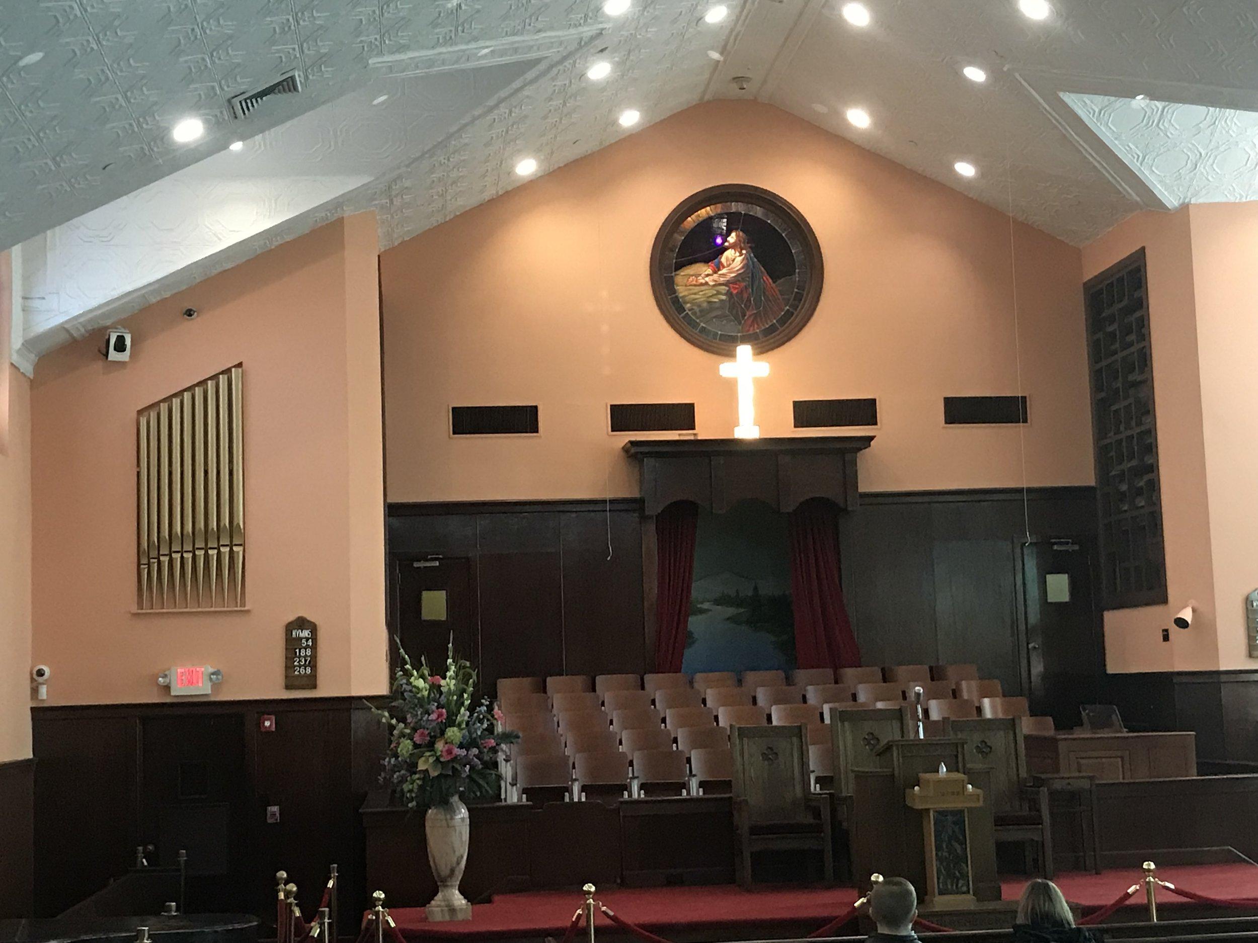 Inside the Ebenezer Baptist Church in Atlanta.