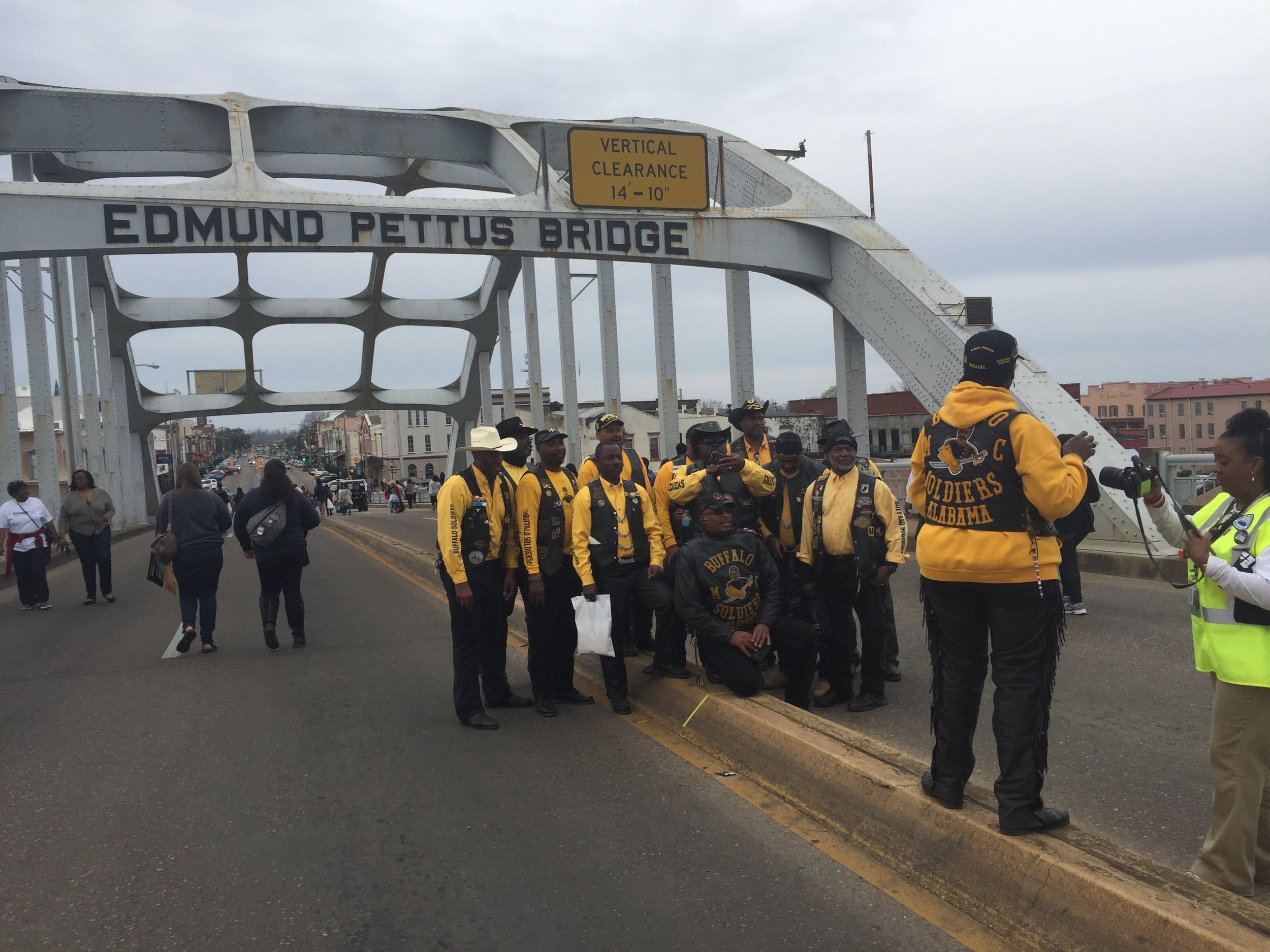 On the Edmund Pettis Bridge in Selma, Ala., where every march, thousands come out to reenact the historic bridge-crossing that began the 1965 Selma-to-Montgomery March for Voting Rights.