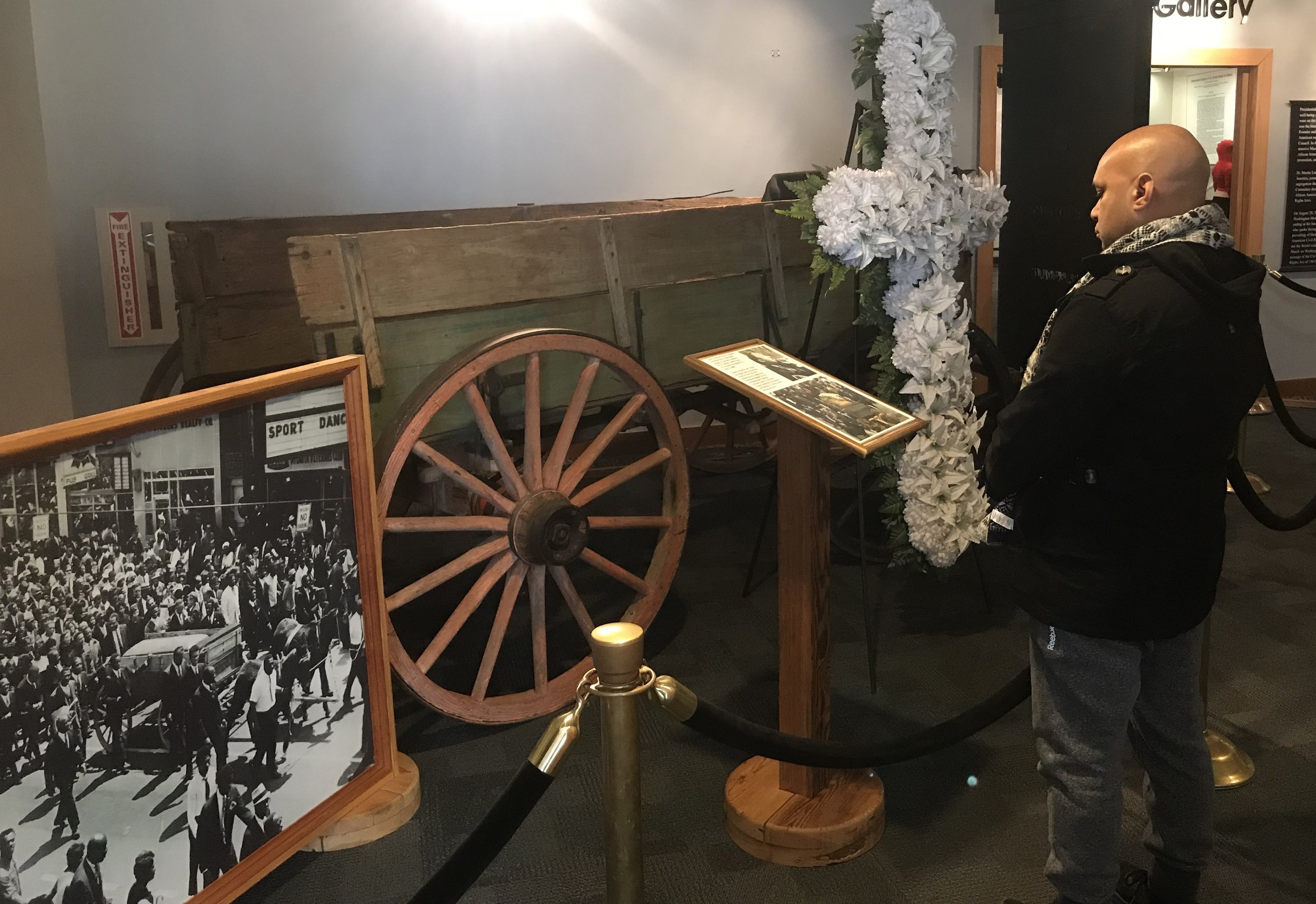 The wagon that carried Martin Luther King's casket is on display at the Martin Luther King Jr. National Historical Park in Atlanta.