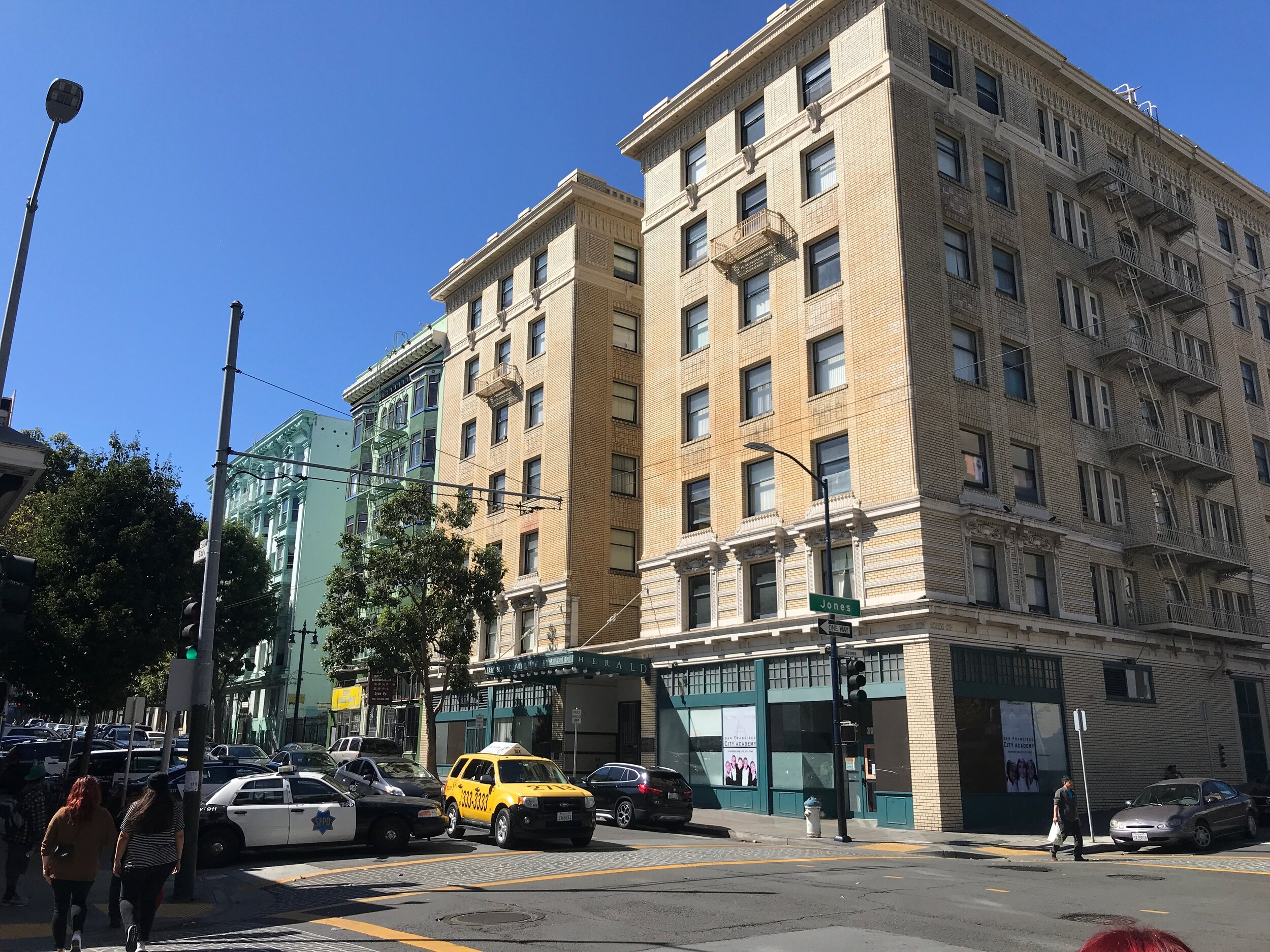 Rebuilt quickly after the 1906 earthquake and fire, the Tenderloin was suited to the development of residential hotels, a housing type that defined the neighborhood. More than 400 Tenderloin buildings are protected as historical structures.