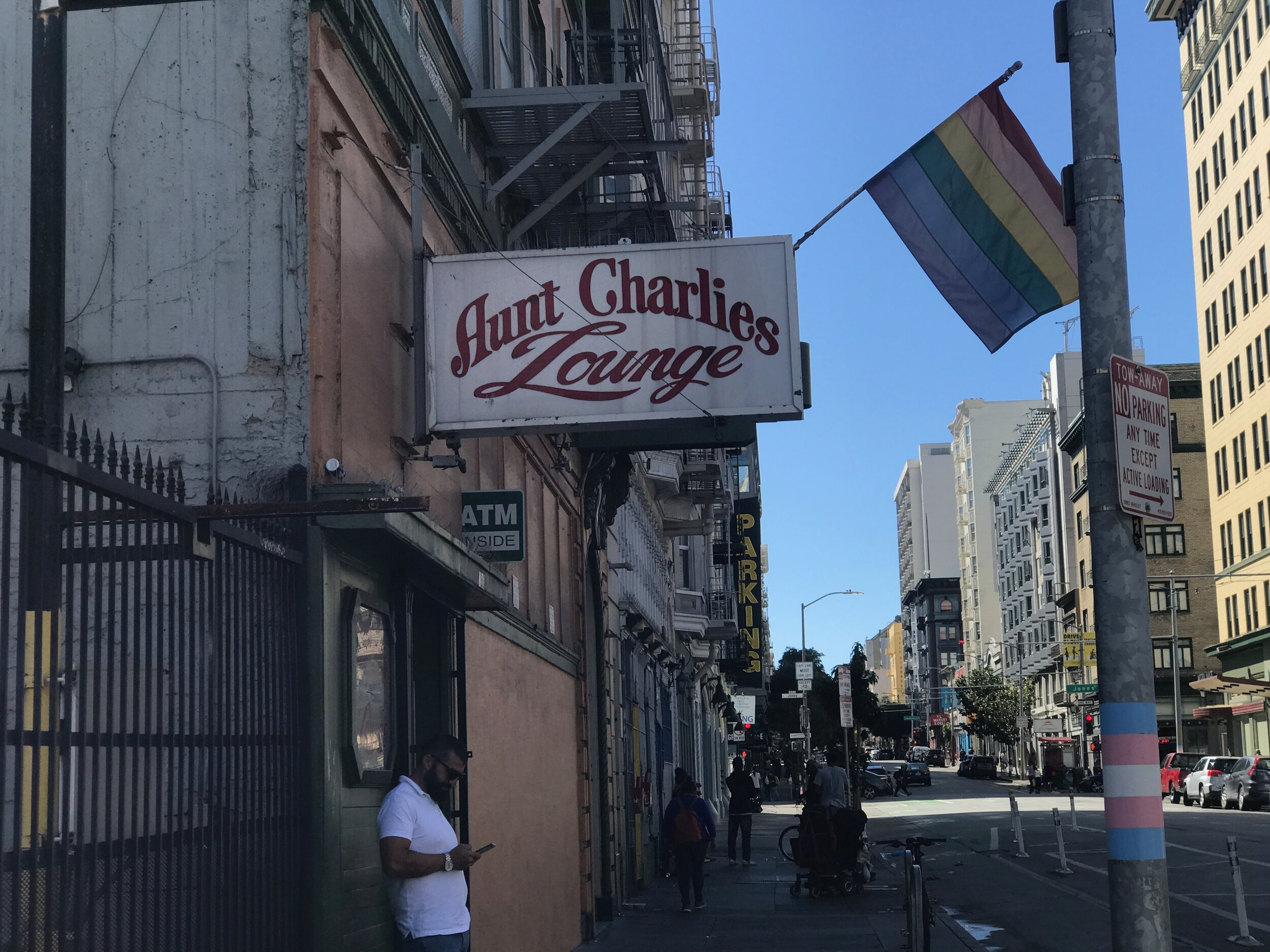 Noted for its weekend drag shows, Aunt Charley's is the last surviving gay bar in the Tenderloin.