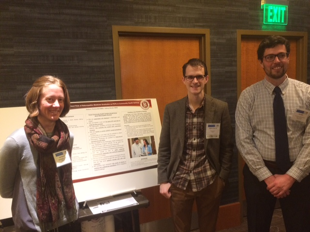 Poster time! Kate Boulter (ND student), Andrew Day (ND), Tom Bell (ND student) - NWRPCA Conference, February 2018, Seattle, WA