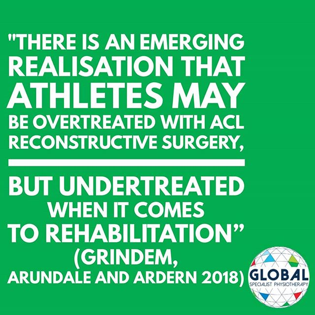 Current best evidence approach to ACL tears has changed from one of immediate surgery towards commencing non-surgical management in the form of an individualised, supervised, graded physiotherapy and exercise program (Zadro and Pappas 2018). • Zadro and colleagues (2019) wrote a paper this year in the context of the 'Choosing Wisely' campaign, arguing that there is emerging evidence of the overuse of health services for sport and exercise-related injuries with 'surgical procedures providing similar outcomes to those of non-operative management, with ACL reconstruction yet to be evaluated against a placebo.' • Link to the paper in bio 👉: • #acl #anteriorcruciateligament #ligament #redundantligament #noaclnoworries #nonsurgical #donoharm #physio #choosephysio #choosewisely #choosingwisely #fundphysio #physiotherapy #physicaltherapy #rehabilitation #global #globalspecialist #globalspecialistphysio #globalspecialistphysiotherapy