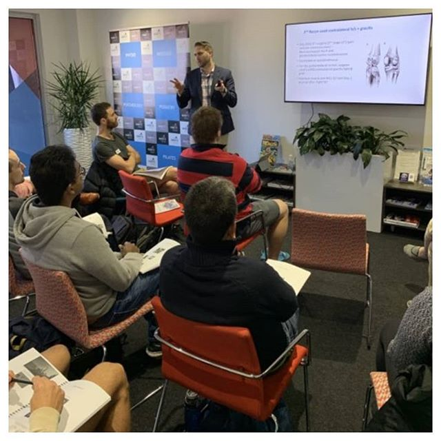 "Was awesome to get over and run Global Specialist Physiotherapy's ""Anterior 'not crucial' ligament Workshop"" recently in Adelaide! Big thanks to Wahib Joubeir from Kinetic Rehabilitaiton and Performance for the invite and hosting in your brilliant facility 👍👍😊 • Some feedback from the course: • ""Great course, well structured, lots of paradigm challenging education and ability to learn from the real patient case. Thank you for the opportunity."" • ""Brilliant course. Very informative. Feeling confident about the approaches of treatment protocols. Thank you."" • ""The Adelaide course was amazing. For someone who was already on board with treating knee injuries conservatively, I felt like you finally gave me license to and the data to back it well. Biggest takeaway from the day was that physios are equals to surgeons when treating with an evidence based approach, and as a profession need to have more confidence in ourselves."" • If your clinic/group of clinics is interested in having us run an ACL tear non-surgical management course, email kieran@globalspecialistphysio.com or get in touch through the link in our bio 👉"