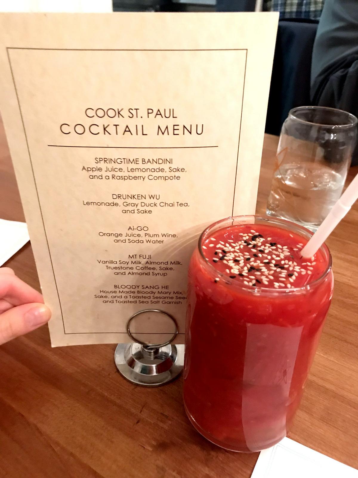 Cook offers sake cocktails