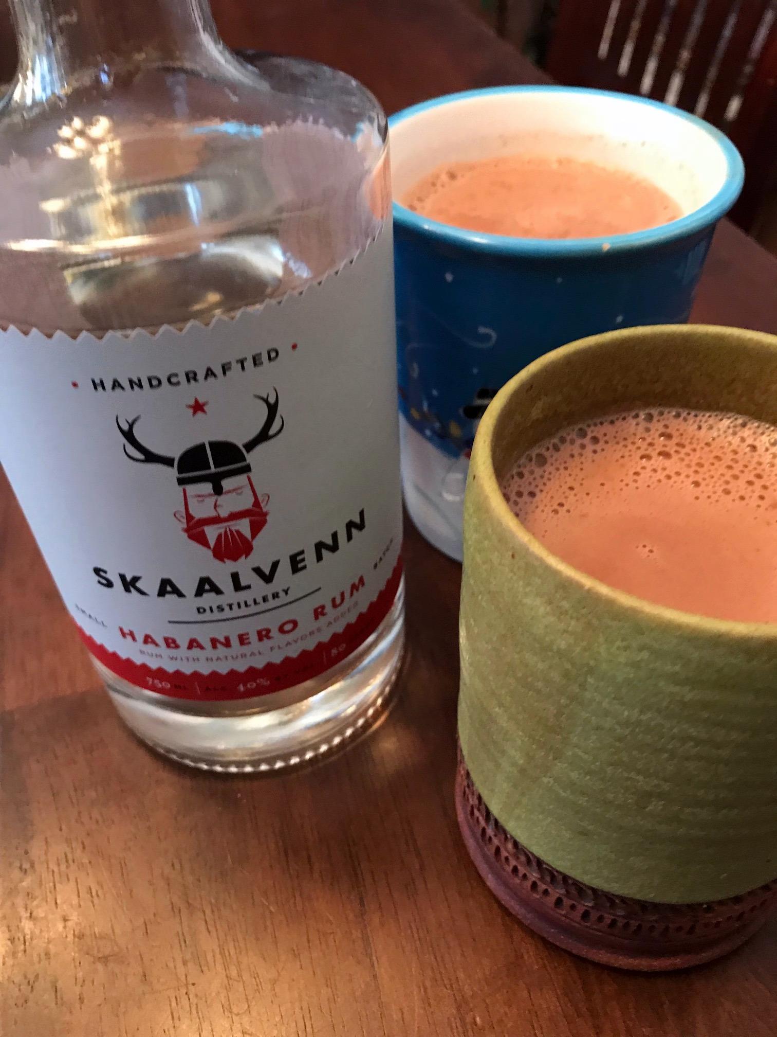 Skaalvenn Habanero Rum is great in hot chocolate!