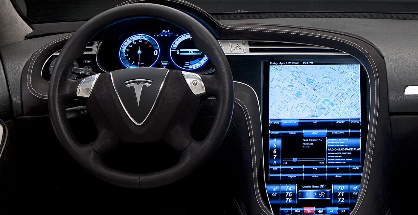 Tesla touch display