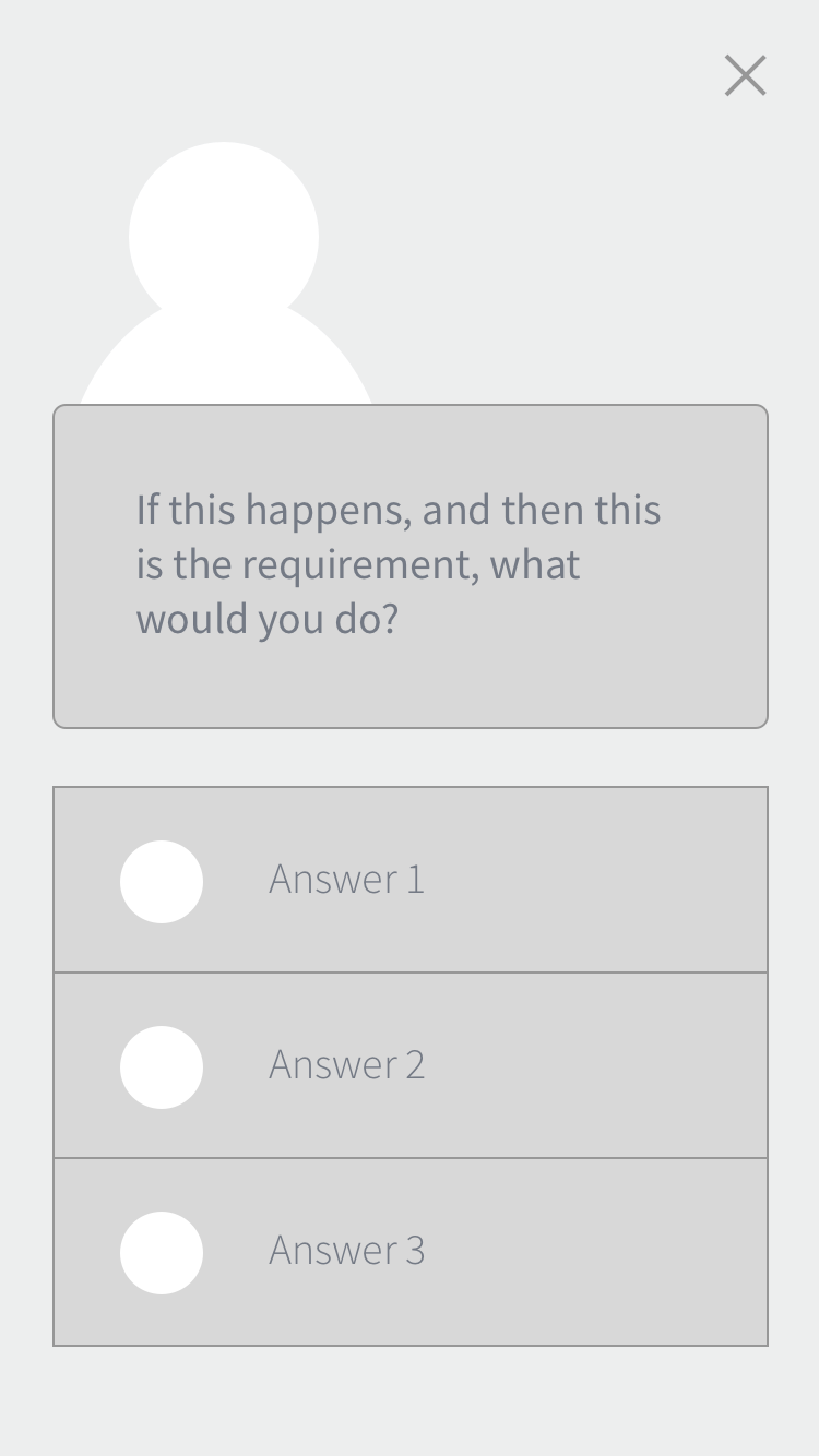 2. Quiz -  to test someone's potential aptitude to redirect to respective lesson but also to motivate the user to continue further by bringing out their curiosity of why they got it right / wrong