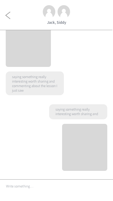 6. Chat Box - How we envision the chat to look like, with a clear UI focusing on sharing the cards clearly and concisely