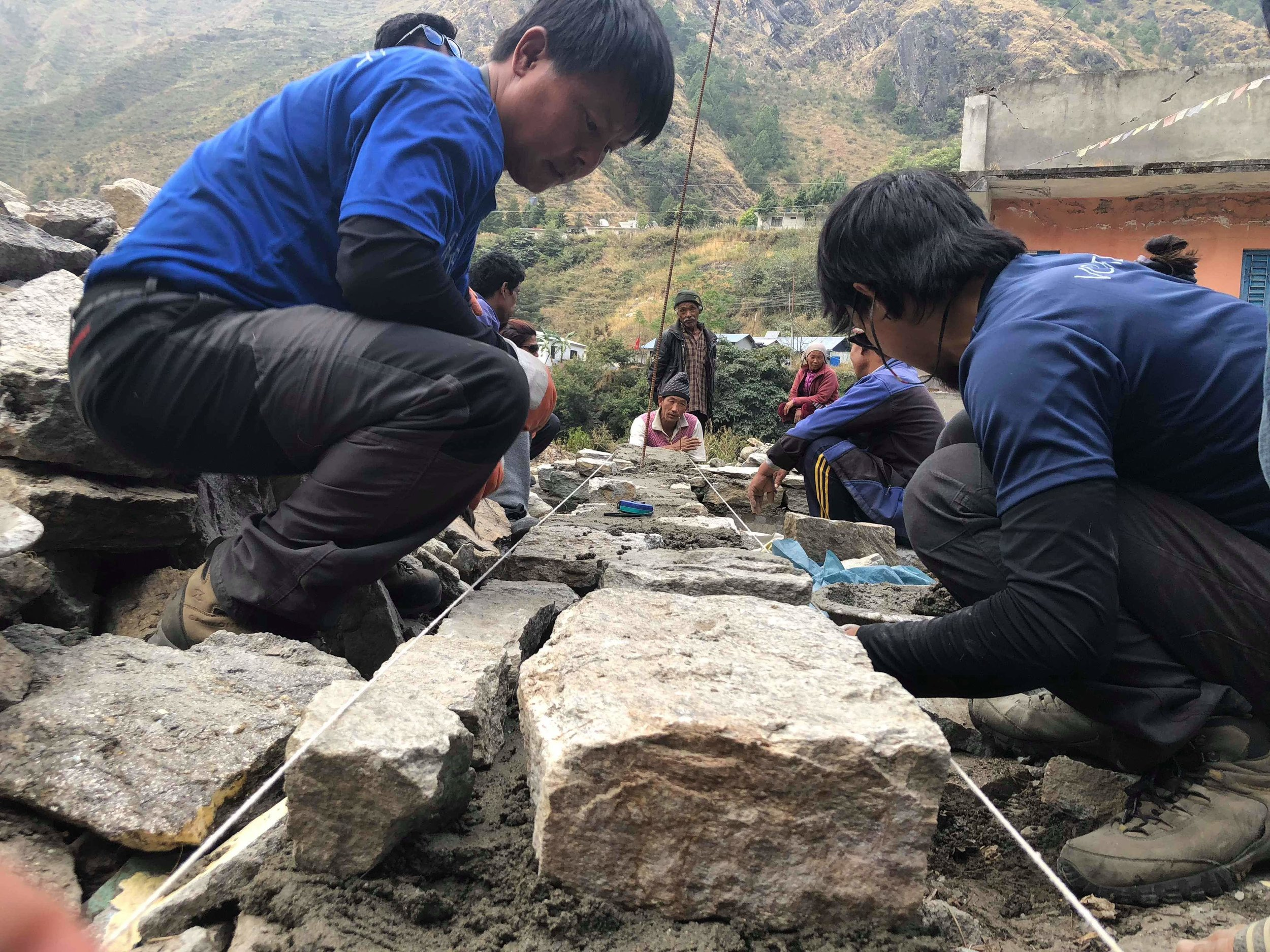 Working with locals on earthquake-safe stone masonry