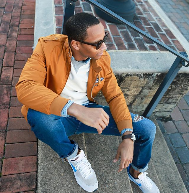 #TBT   One last look. Bringing back the 80's in a classic @membersonlyusa racer jacket! I think I'm going to pull out these '79 Tailwind Retros by @nike all spring too! . 📸 Imagery Captured by   @bchique . #JustNick #MembersOnlyInfluencer