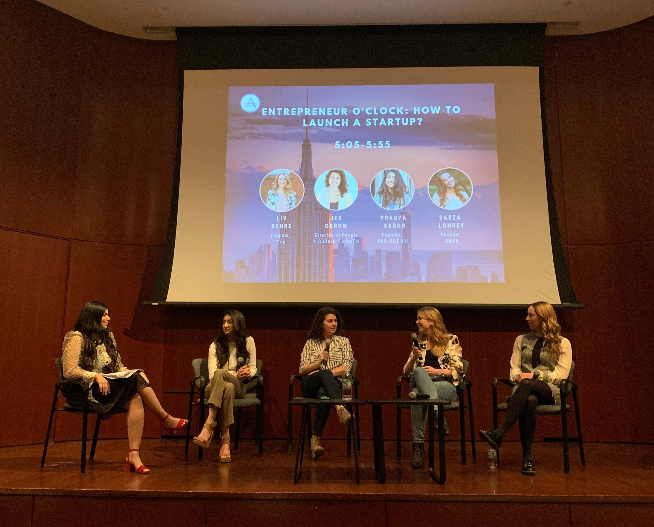 How to Launch a Startup - Alinea Invest: CTRL + F: Find your #FemspirationColumbia University - April 2019