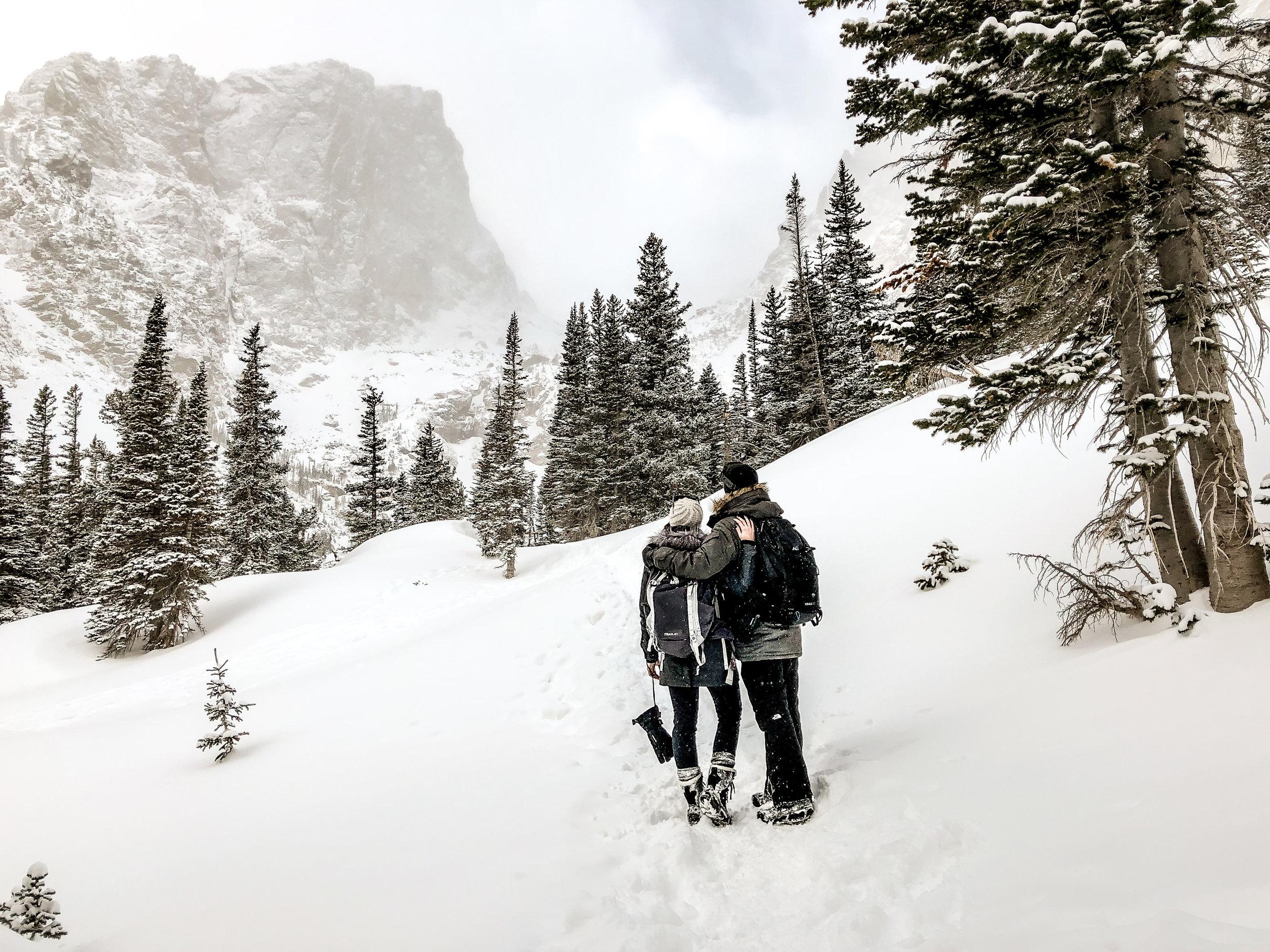 Taking in those Colorado views!