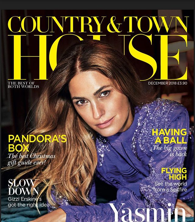Make up for the utterly divine @yasminlebon for this months @countryandtownhouse  Styling @nicolesmallwood77 photo @rachell_photo hair #simonizzard shot at @thenedlondon using skin care @templespa @veneffect @fillerinauk and make up @arbonne @carolhayesmanagement