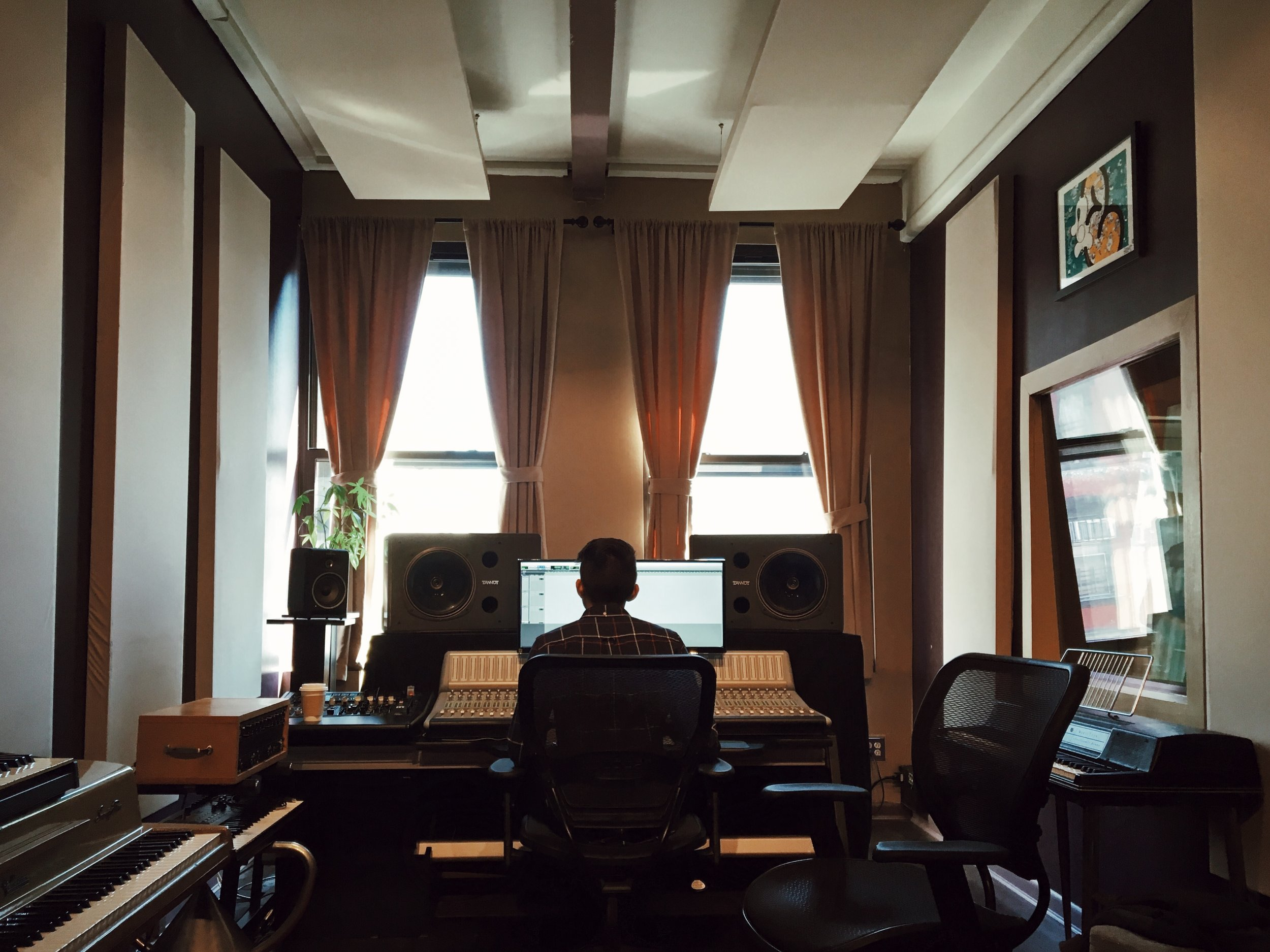 This room at Flux Studios became our home for most of our summer 2016 sessions. Recording vocals, working out electric guitar riffs, listening back for tiny hitches in each song — this was the birthplace of most of the EP.