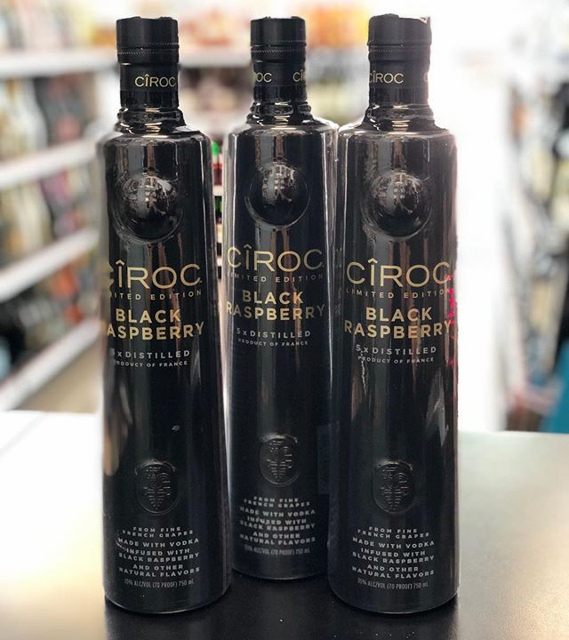 CIROC LIMITED EDITION BLACKRASPBERRY VODKA‼️ Ultra premium french vodka, gluten free and distilled five times to ensure high quality. Enjoy on the rocks, as a shot or mixed in your favorite cocktail. 🍸🍹🙌 . . . . . . @ciroc @diddy #ciroc #cirocblackraspberry #cirocvodka #frenchvodka #miamibeach #southbeach #miami #collinsavenue #lincolnroad #whotel #whotelmiami #setaimiami #onehotelmiami #delanomiami #fontainebleaumiami #faenamiamibeach #miamilife #winterinmiami #mokaimiami #oceandrive #liquorstore #blackberry #thursday #myntlounge #stkmiamibeach