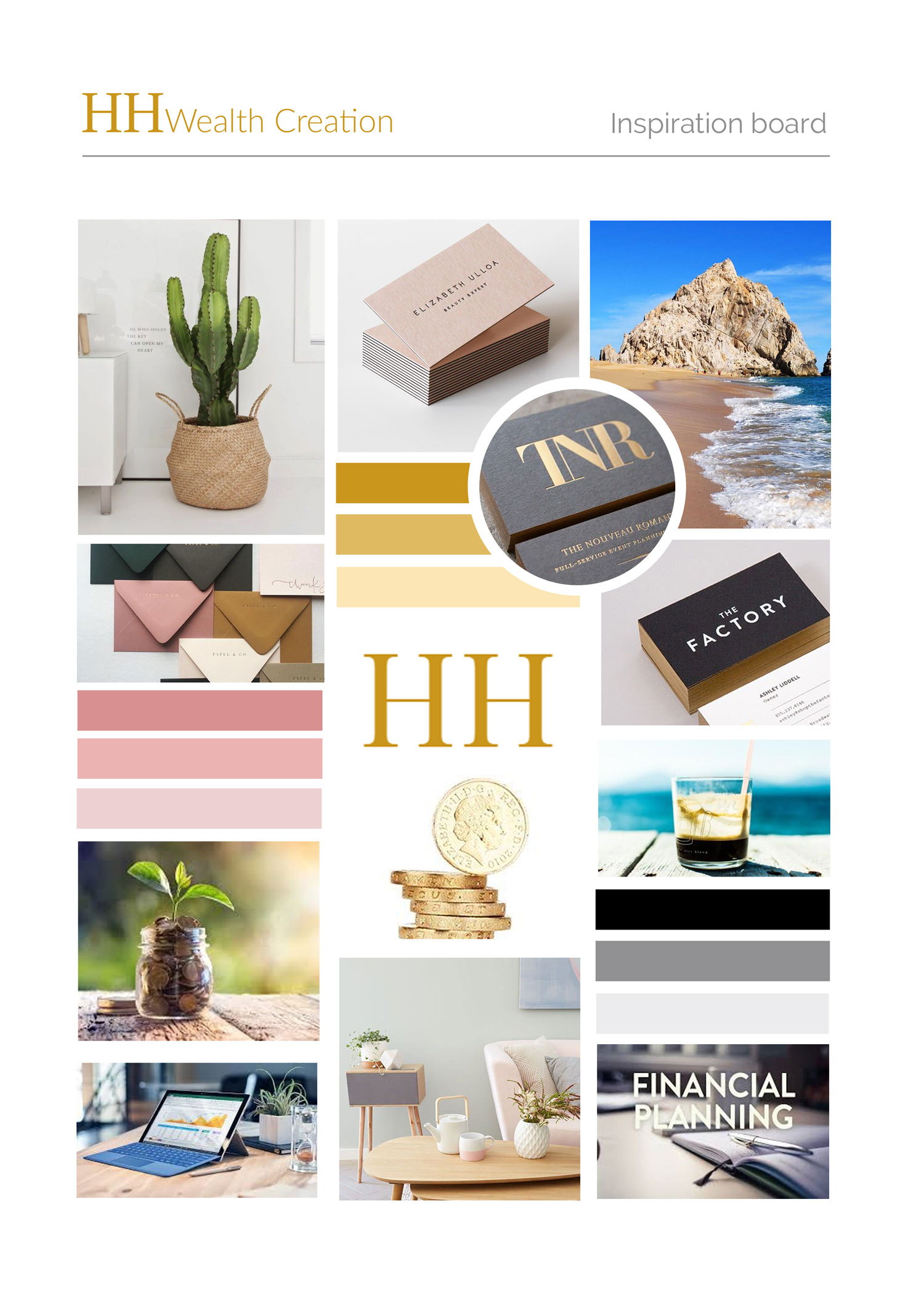 Inspiration board for HH Wealth Creation