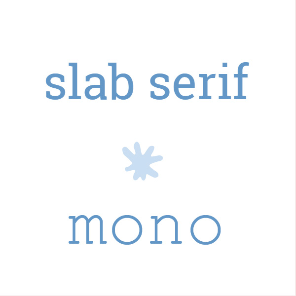 Slab serif, mono fonts. The font matters. Web design tips for small businesses| Logo & web design by On Port 80, Brisbane