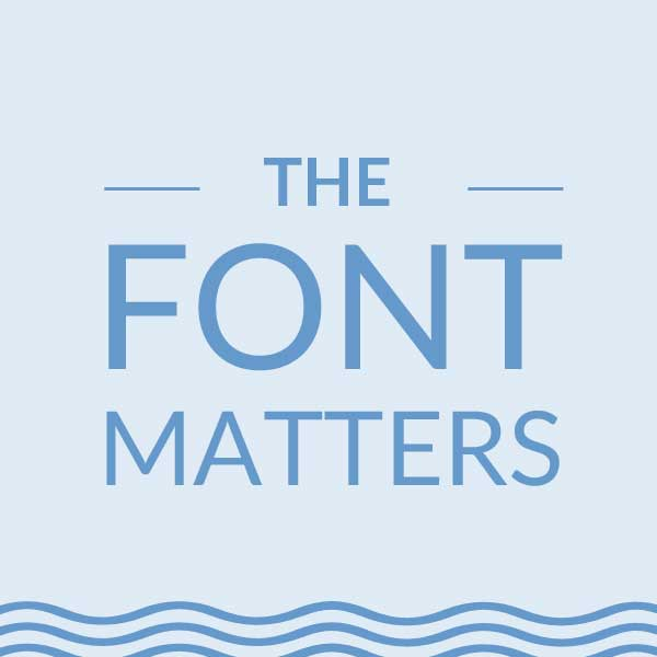 The font matters. Web design tips for small businesses| Logo & web design by On Port 80, Brisbane