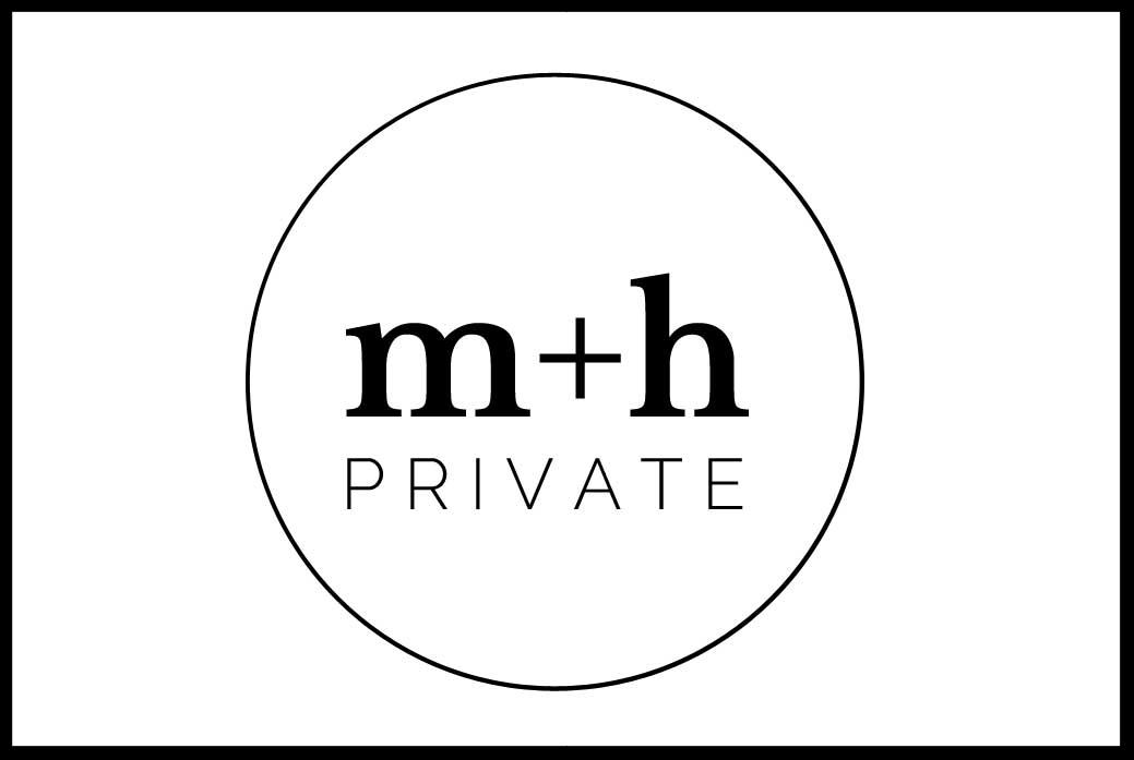 m+h business Card Front White, On Port 80 Brand & Web Design, Brisbane, Australia