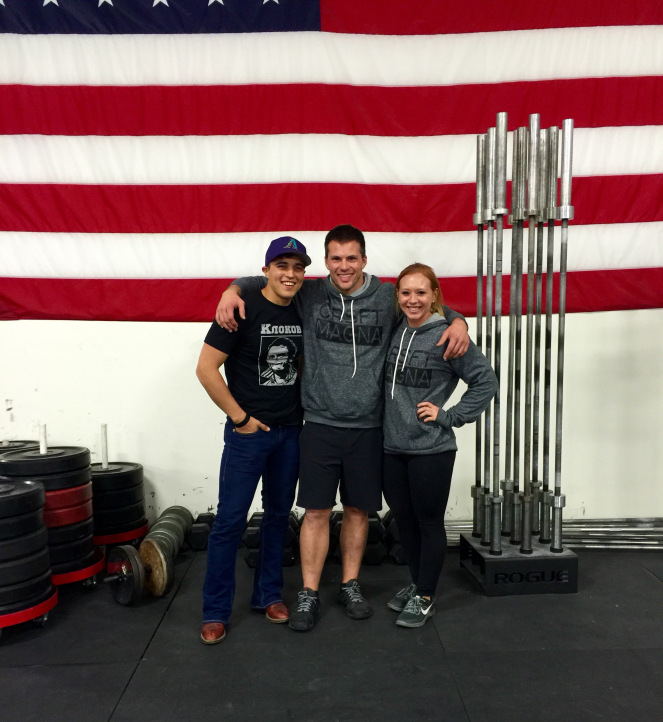 Pictured left to right: Joe, Brian, myself at CrossFit Magn