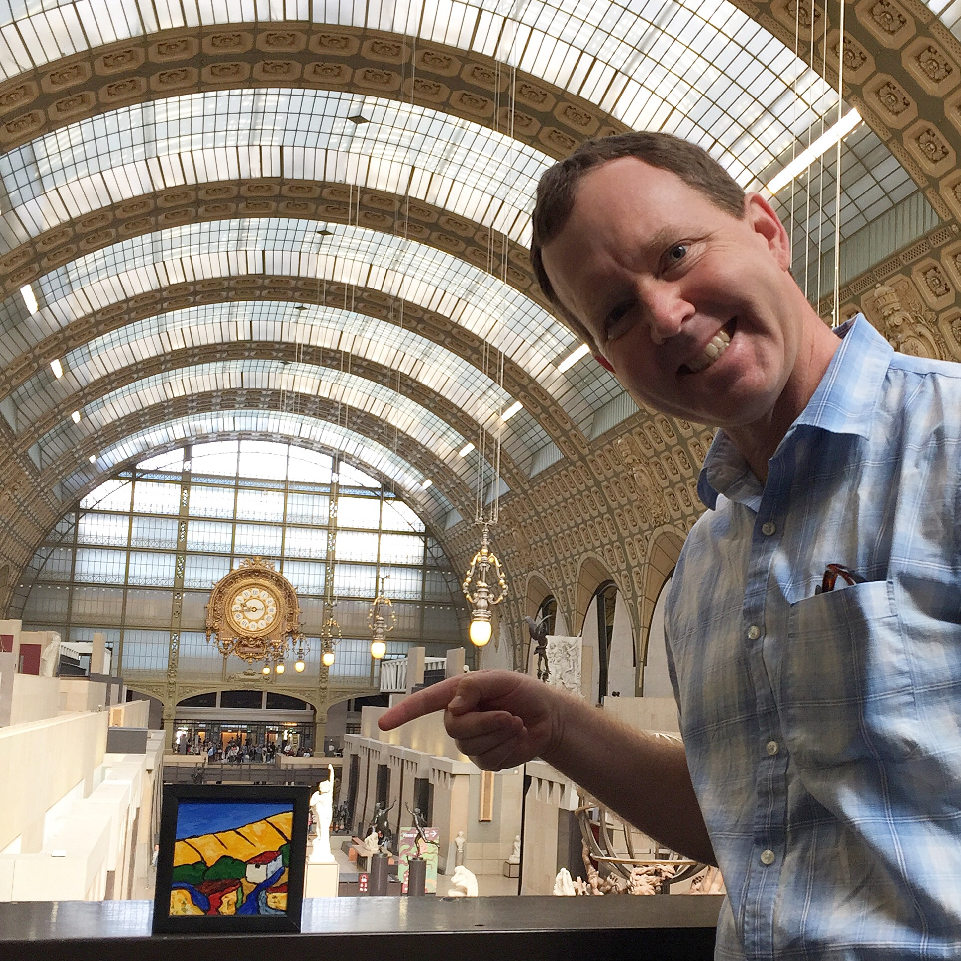 No fear - Eric snuck in and exhibited a small painting of his into the Musée d'Orsay in Paris.
