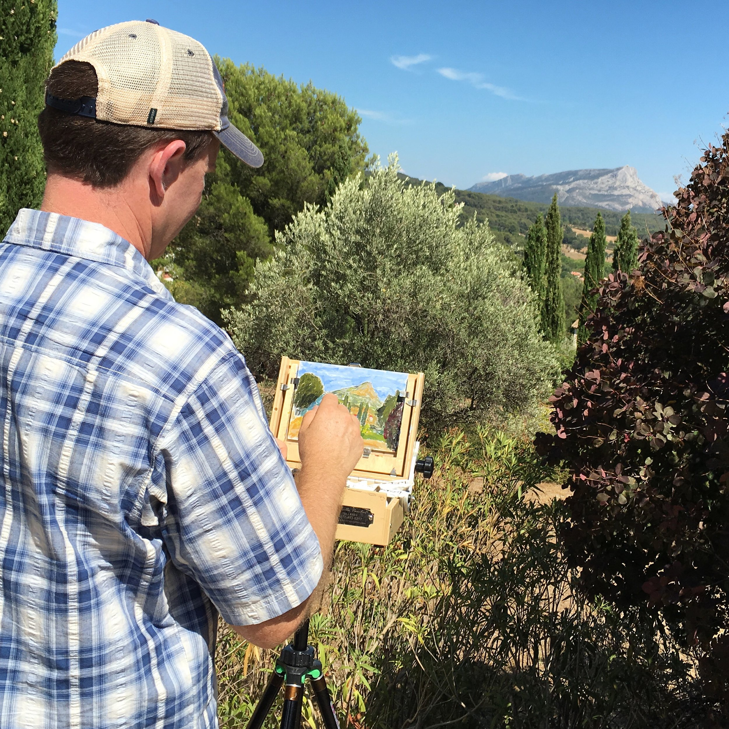 Plein Air Painting in the footsteps of Cezanne - Mont-Sainte Victoire in Aix-en-Provence.