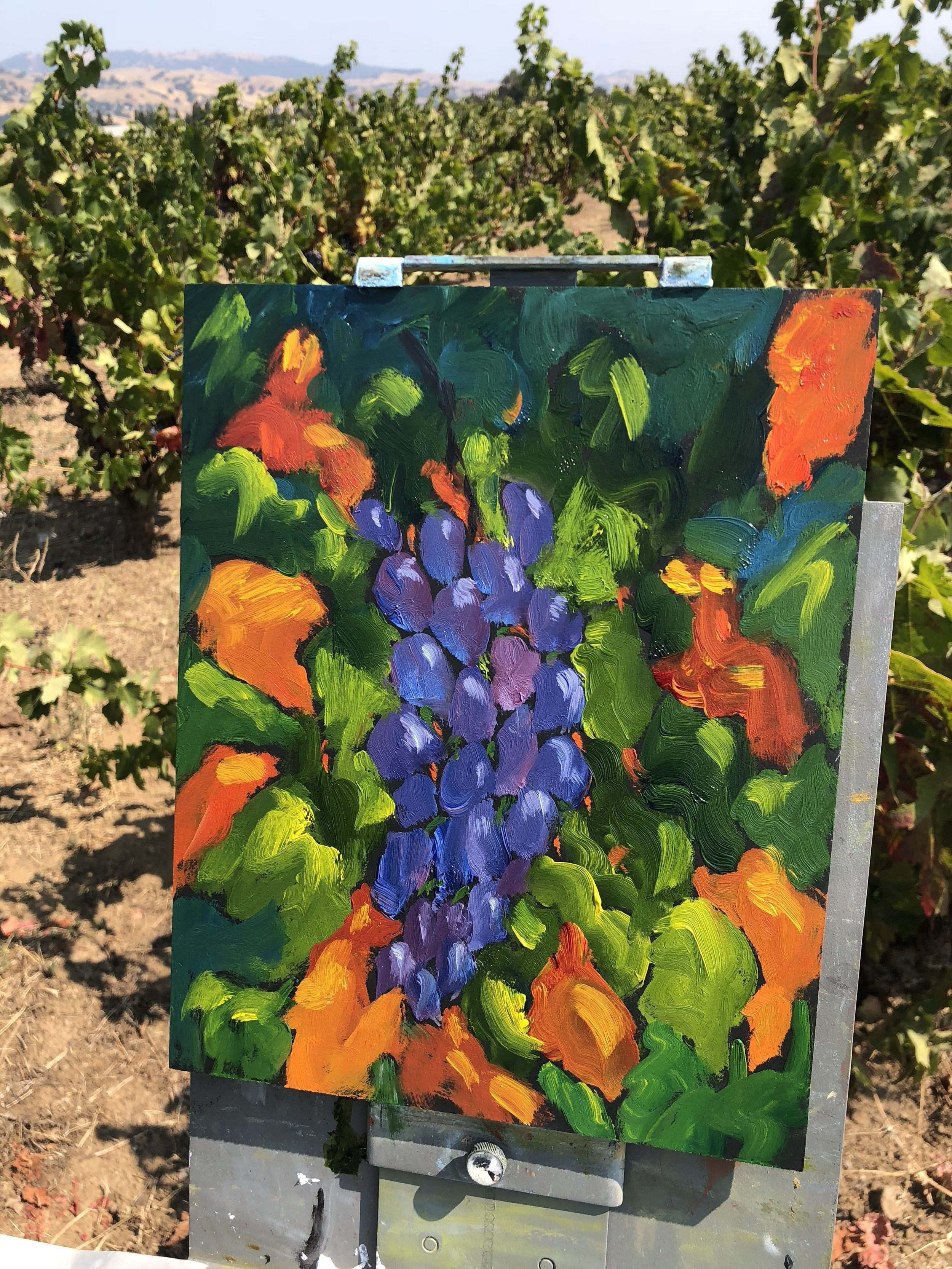 25 minute end of day painting at Guglielmo Winery