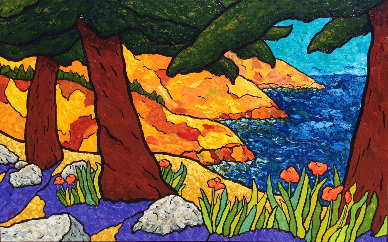 Big Sur Through the Redwoods - 30x48