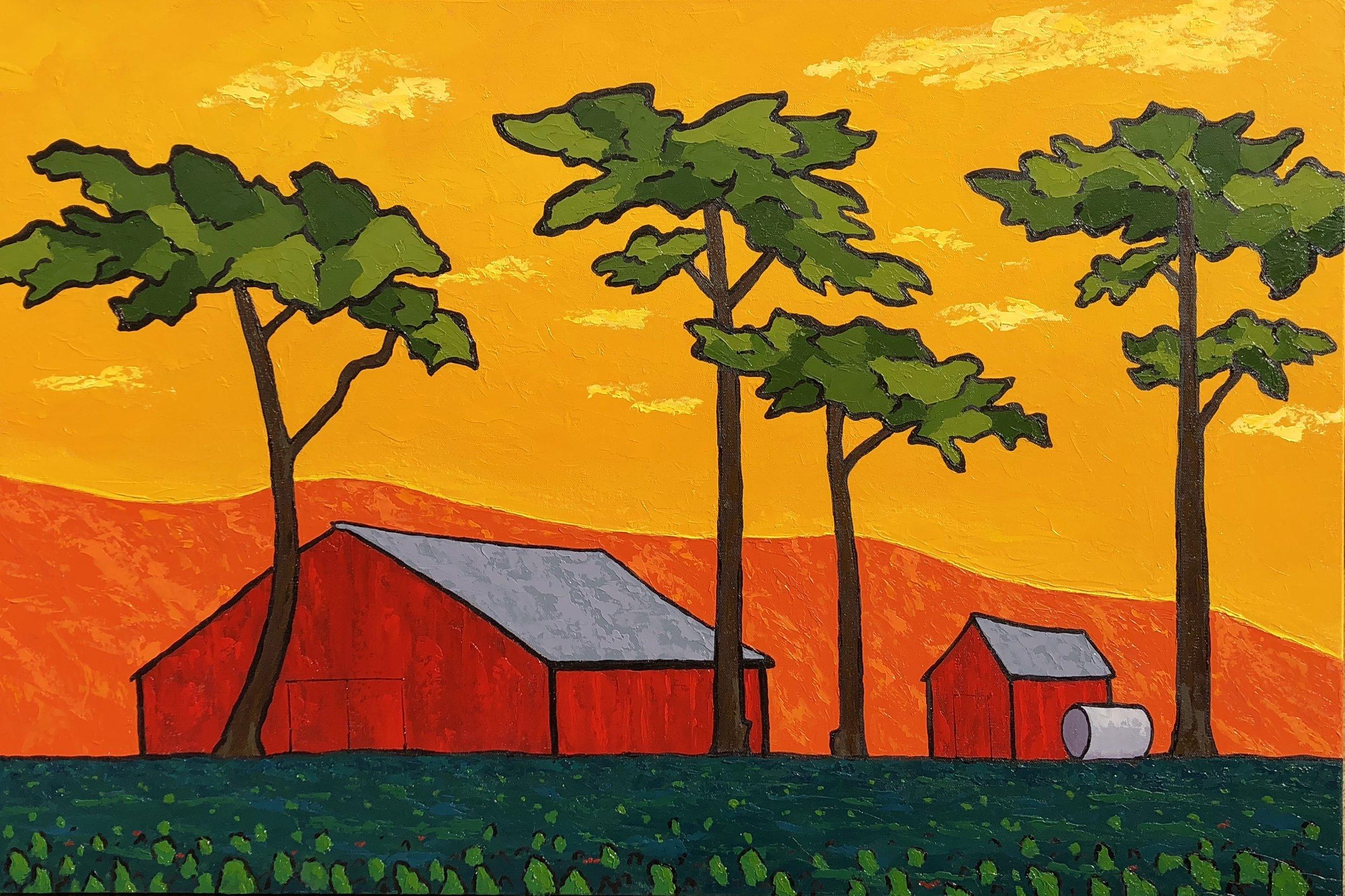 Castroville Farm at Dawn - 24x36