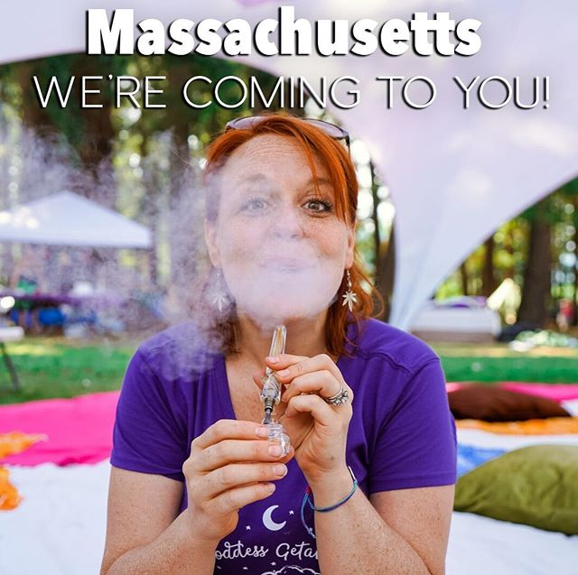 We cannot wait to glow away to Massachusetts!!! Next month we'll be in the Berkshires celebrating our favorite plant and weed love for you to join us! Tix in link in bio! #cannasistersforlife . . . . . . #glowinggoddessgetaway #glowawaywithus #glowup #cannasisters #stonersisterhood #womenwhosmokeweed #goddessretreat #weedlovers #ladystoner #kushqueens #ganjagoddess
