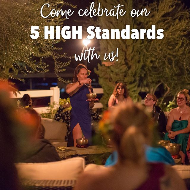 At the Getaway we like to live by 5 High Standards! They are: self love, inclusivity, empathy, good fun, and mindfulness. By focusing on these standards we're able to live our best goddess life! What's your favorite personal value?? What standards matter most to you?? We love personal growth at the Getaway and love building a community of high minded cannasisters!! Thanks goddesses for helping each other grow! #cannasistersforlife . . . . . #glowinggoddesses #glowinggoddessgetaway #5highstandards #goddesslife #liveyourbestlife #levelup #goddessretreat #glowinggoddesses #glowup #onelove #womensretreat #goddessweekend #cannasisters #glowawaywithus