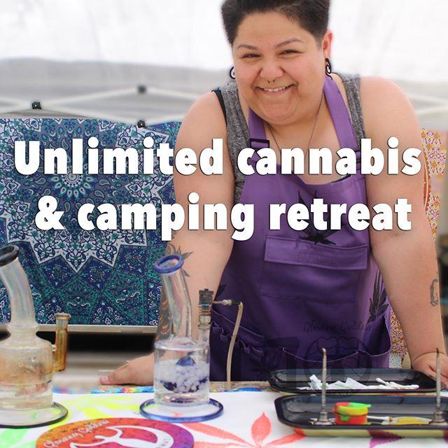 Join us next weekend for 3 days and 2 nights of sisterseshes!!! Just $240 for 3 days and 2 nights - tix in link in bio! #glowawaywithus . . . . . . #cannasistersforlife #sistersesh #cannasisters #womenandweed #ganjagoddess #glowinggoddess #campingretreat #cannabisvacation #glowbar #glowup