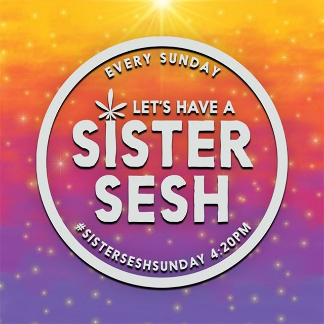 Happy #SisterSeshSunday! Celebrate today by connecting with your cannasisters for a sesh irl or virtually! Use your sesh to focus on your self love and inner goddess so you can find new ways to glow up this week!! Tag your fav sesh bestie and find time to connect today or this week! #cannasistersforlife . . . . . . #glowinggoddesses #sistersesh #cannasisters #stonersisterhood #glowup #babessupportingbabes #girlpower #glowinggoddess #womenandweed #womenwhosmokeweed #ladystoner #ganjagoddess #kushqueen