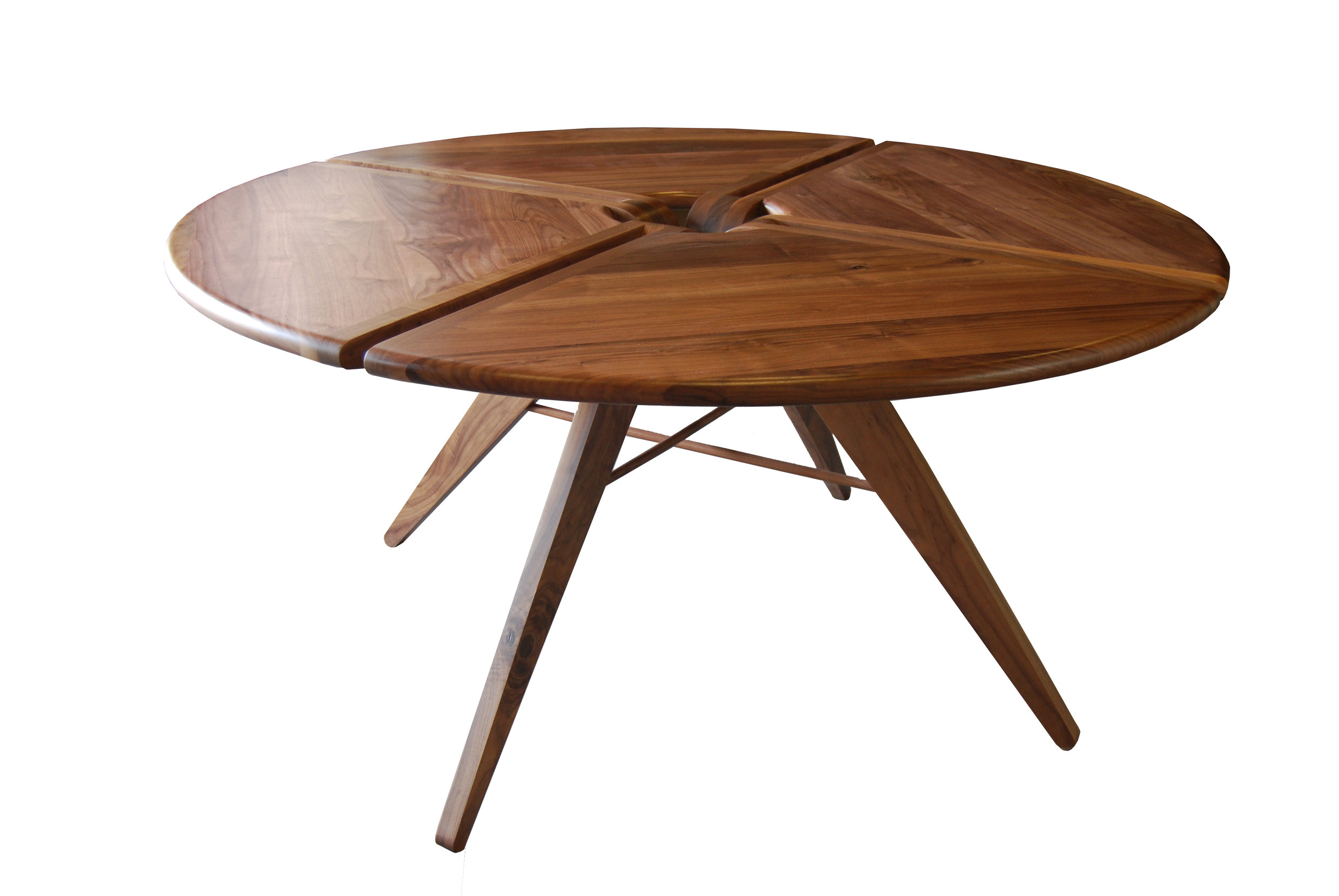 60 Round Dining Table Walnut New Breed Furniture