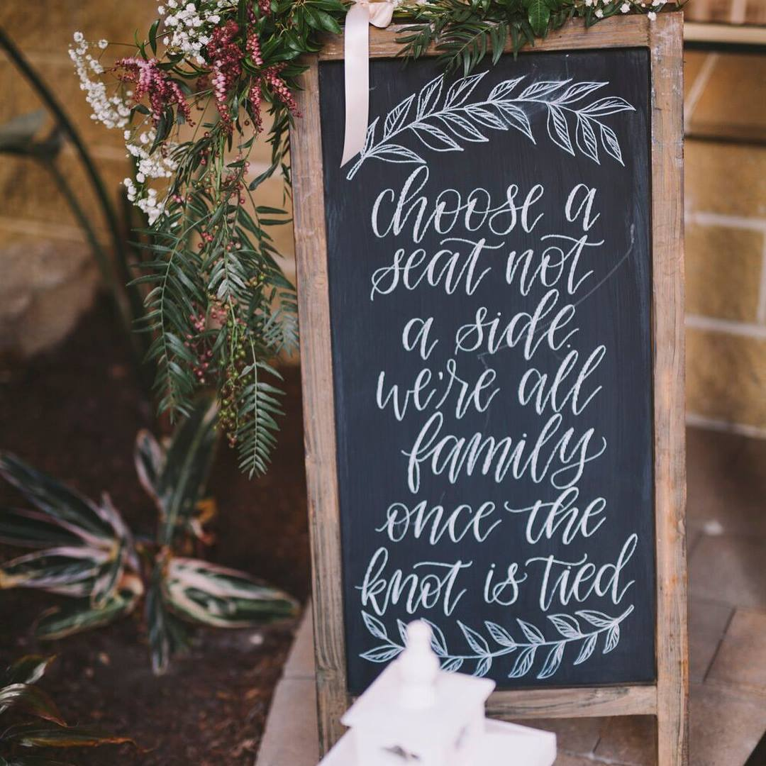 La De Da Letters - Bespoke hand lettered signage on timber and chalkboards. Based in Melbourne, AUS, La De Da Letters has incredible skills and helps you get those personalised little details for your wedding. For custom wedding welcome signs, or table numbers and much more.
