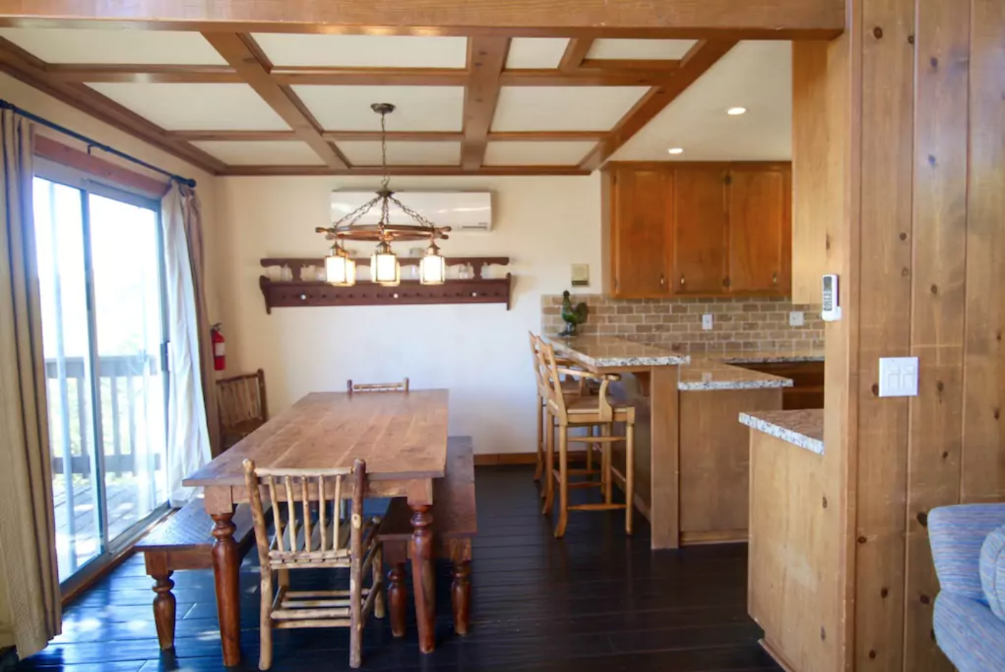 Recently remodeled Kitchen and bathrooms with granite and stone.