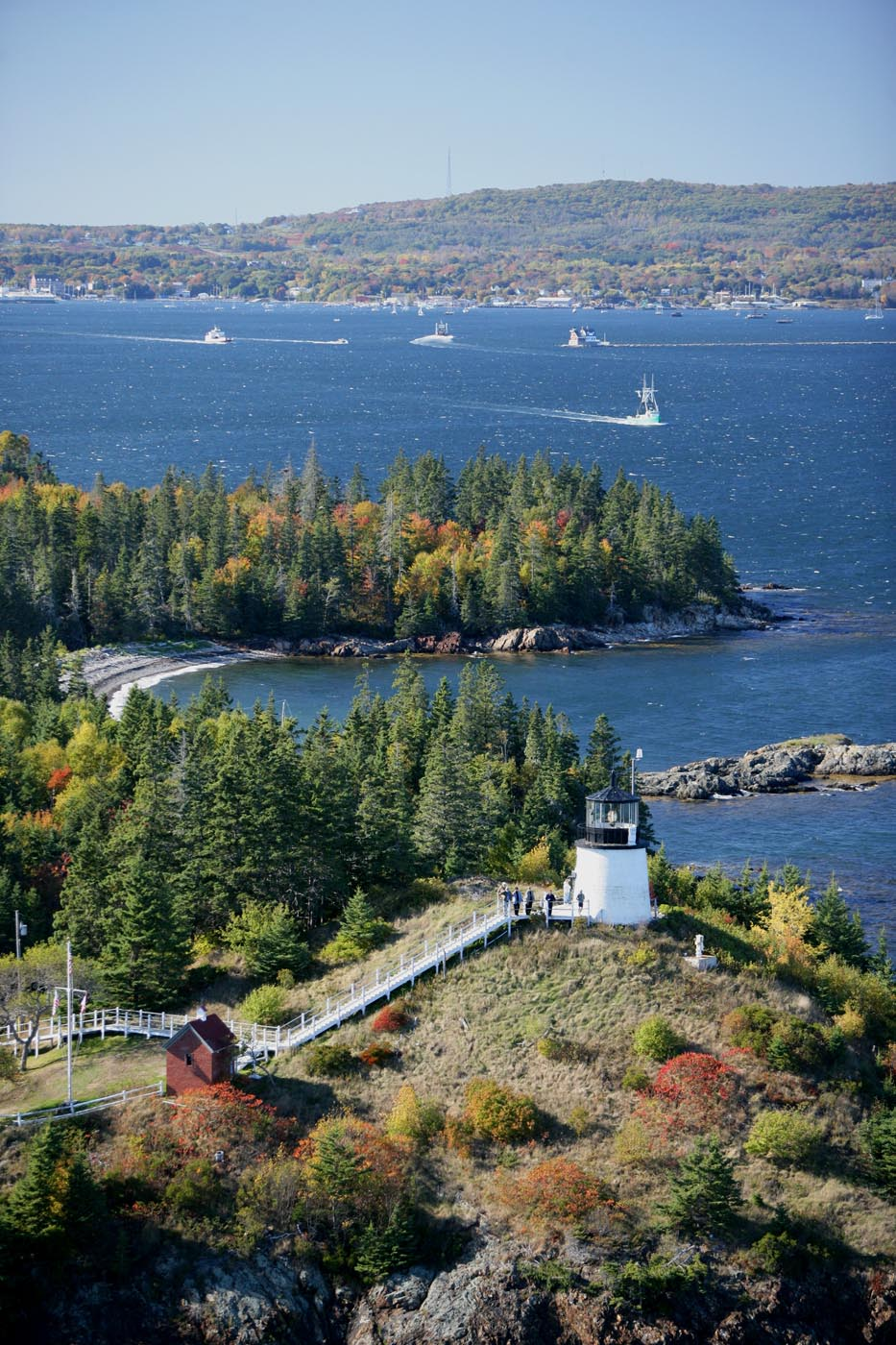 Nearby Owls Head Lighthouse from above.